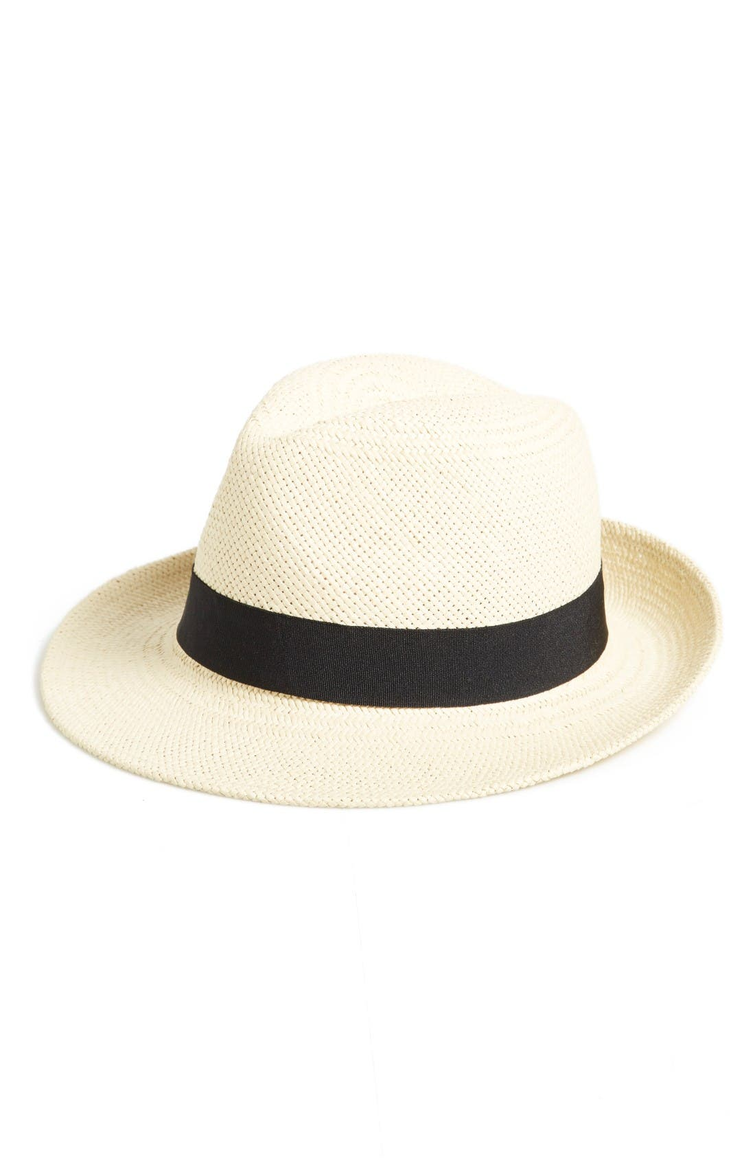 Halogen® Straw Panama Hat