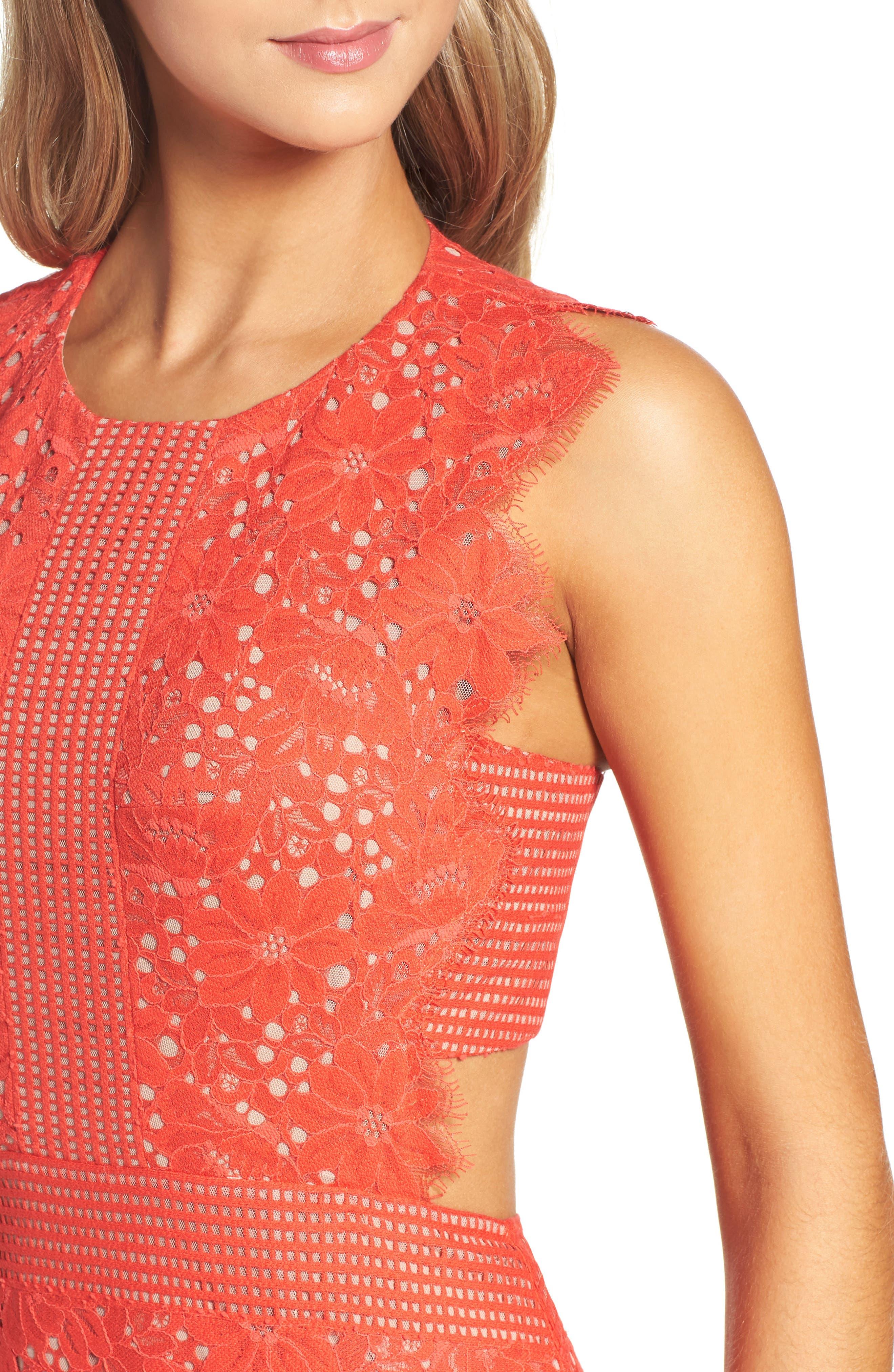 Alternate Image 4  - BCBGMAXAZRIA Merida Open Back Lace Gown