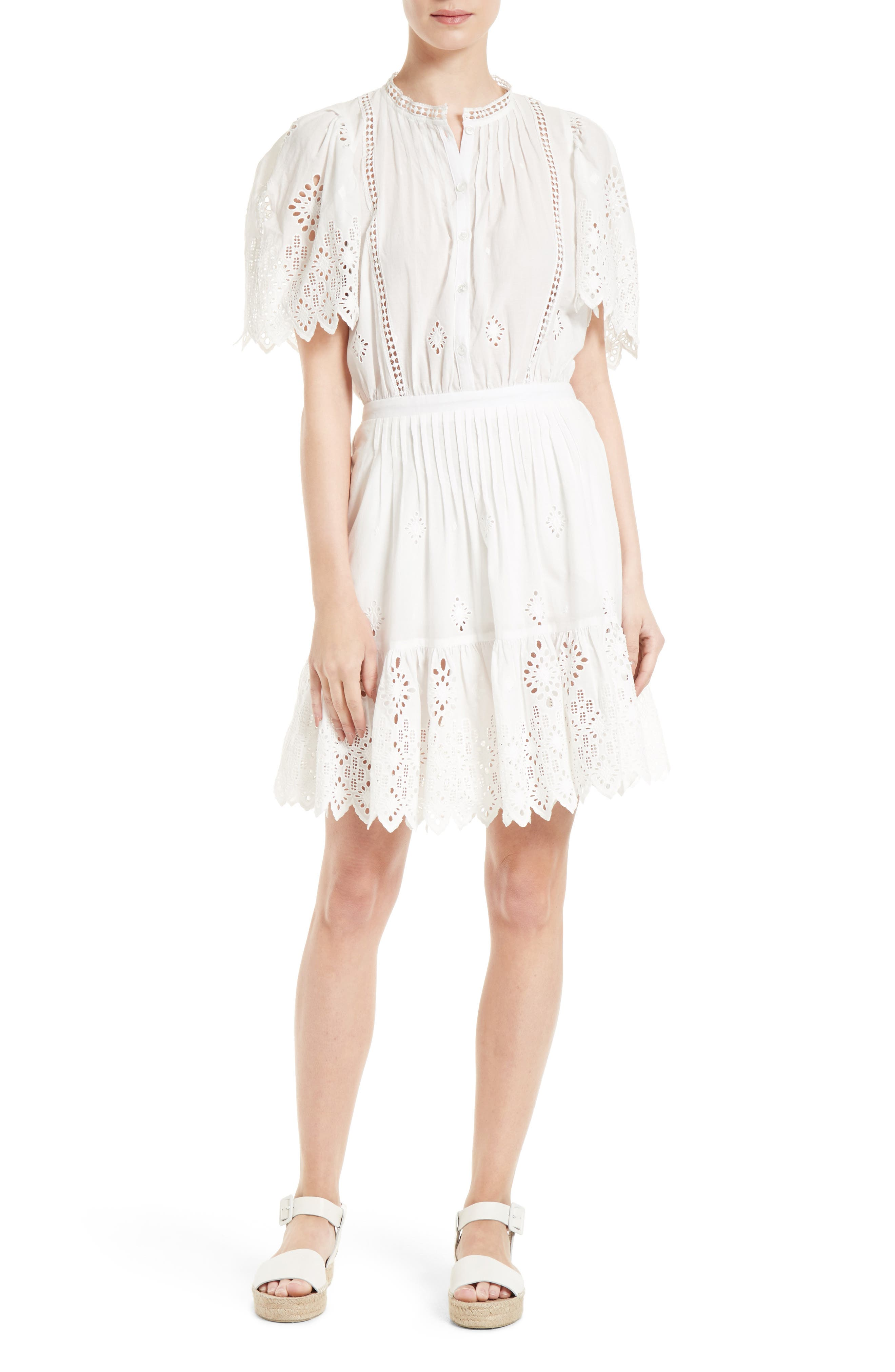 SEA Emma Pintuck Eyelet Dress