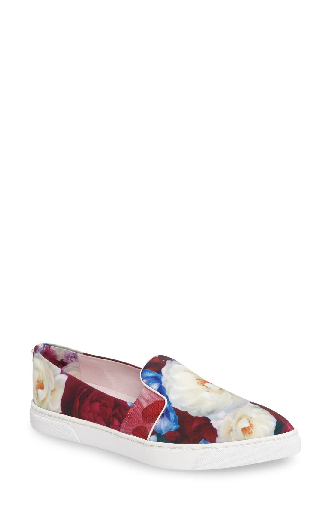 Ted Baker London 'Thfia' Floral Pointy Toe Slip-On Sneaker (Women)