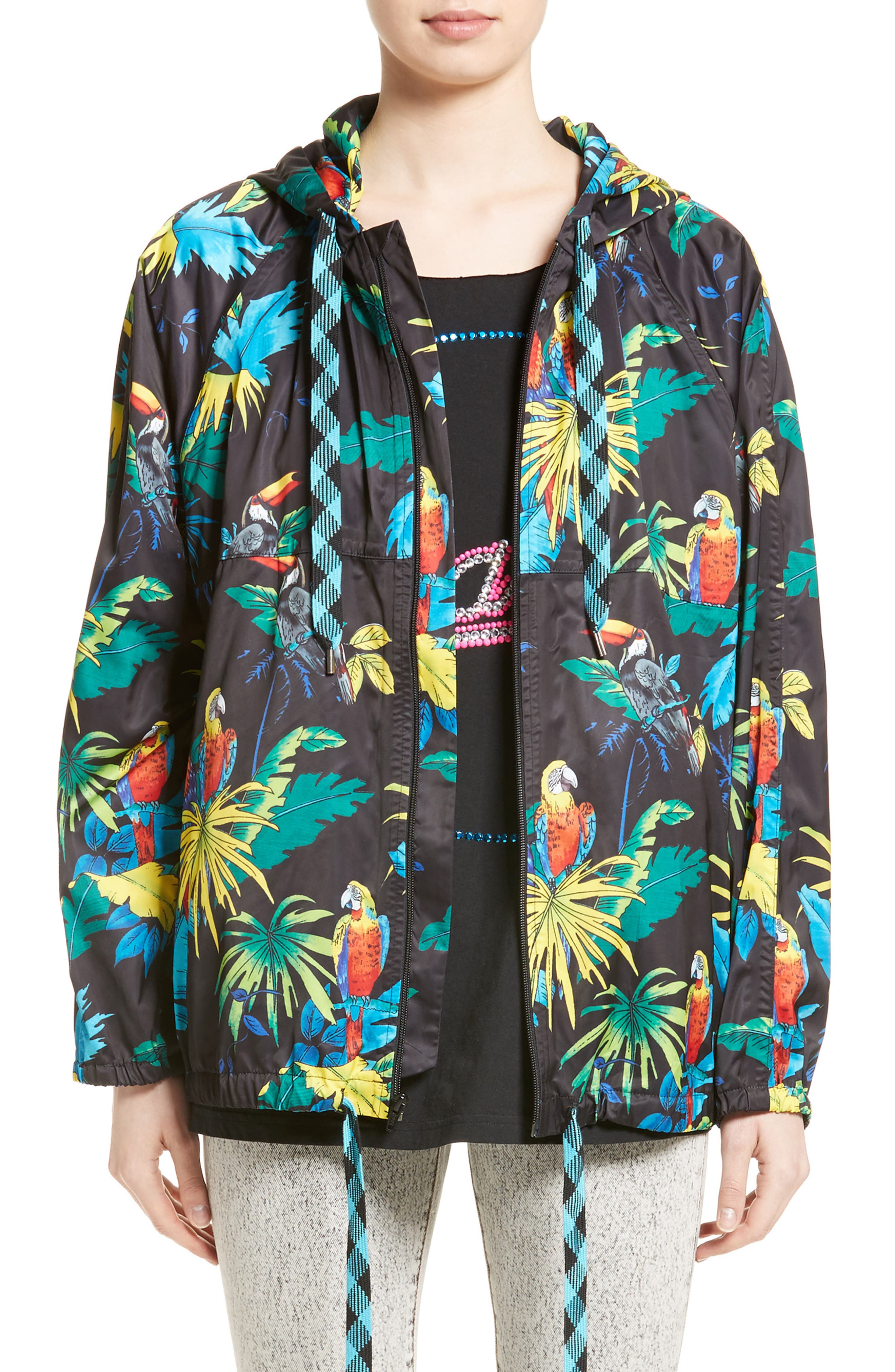 MARC JACOBS Parrot Print Hooded Jacket
