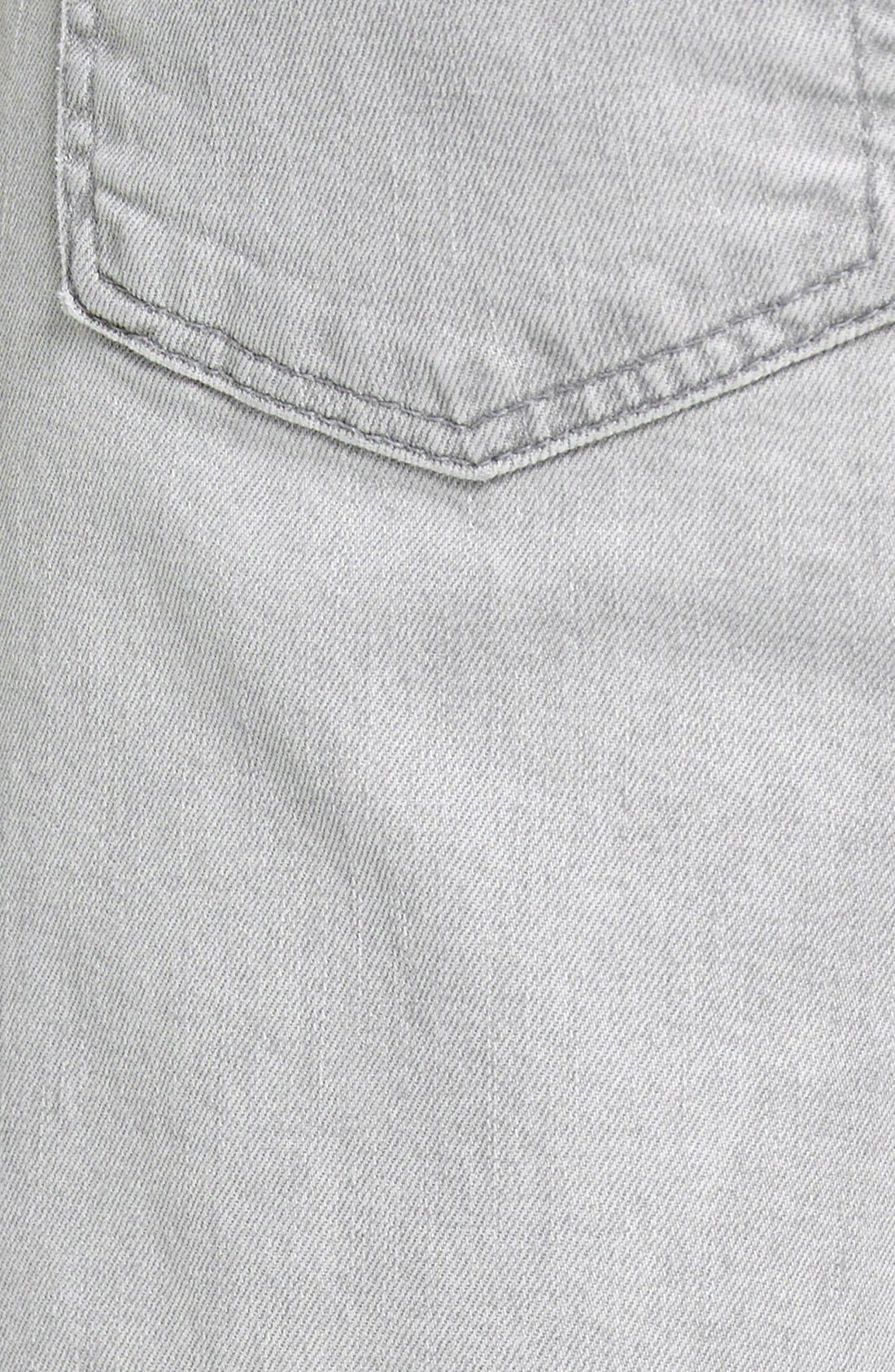 Alternate Image 4  - 7 For All Mankind® 'Paxtyn' Slim Straight Leg Jeans (Clean Grey)