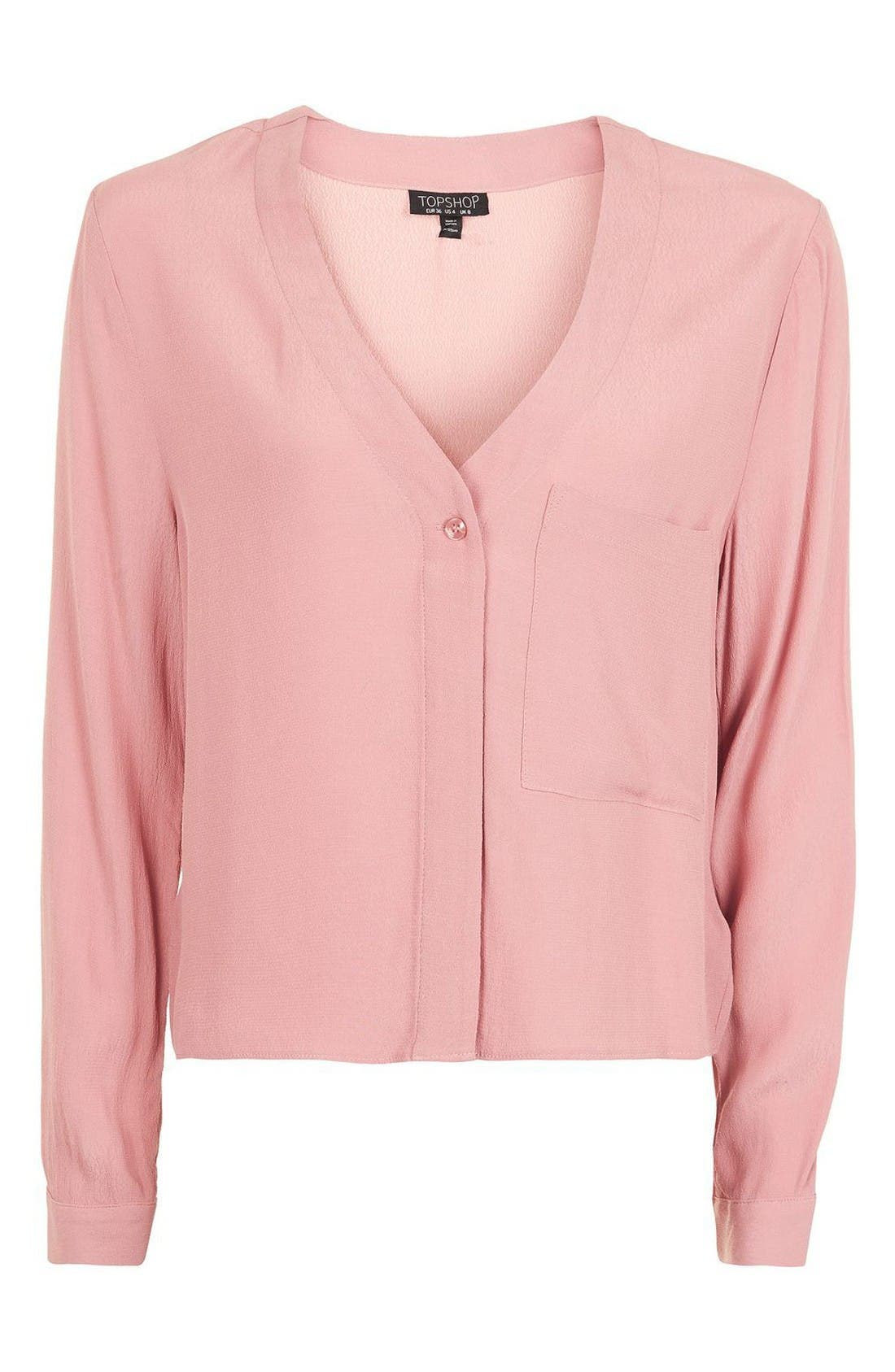 Alternate Image 4  - Topshop Crop Slouch Pocket Blouse