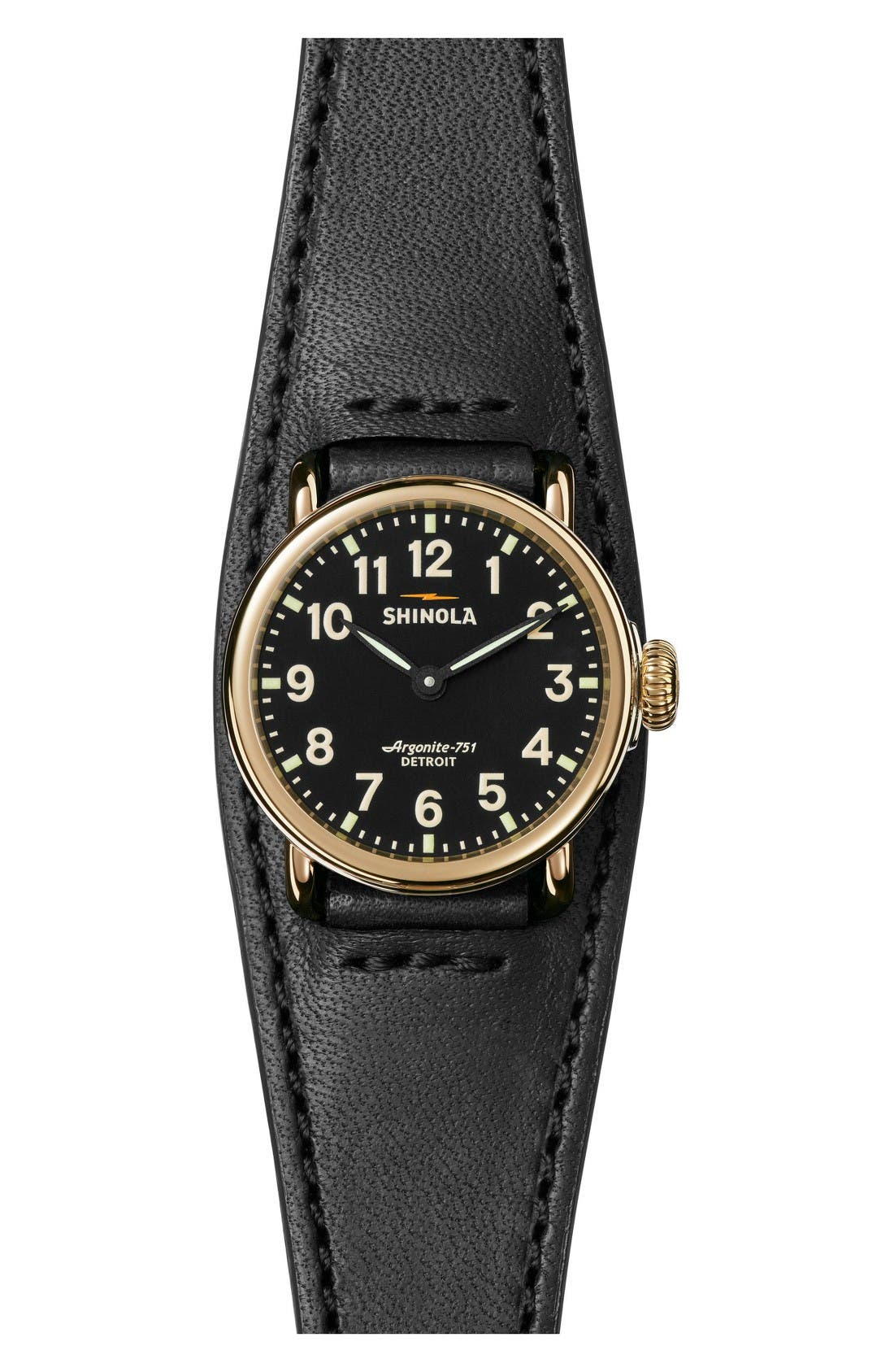 Shinola Runwell Leather Strap Watch, 28mm