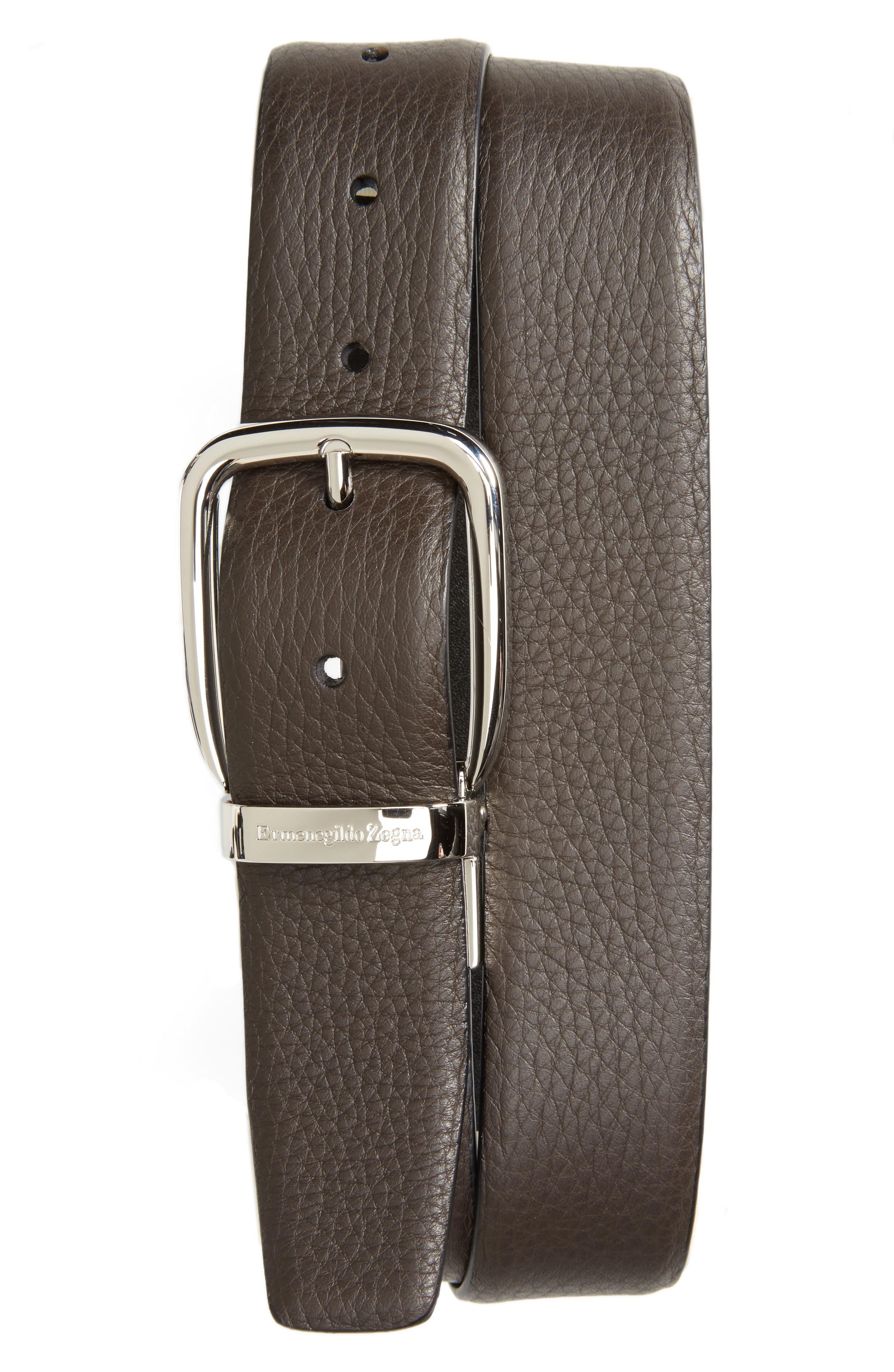 ERMENEGILDO ZEGNA Sartoria Reversible Leather Belt