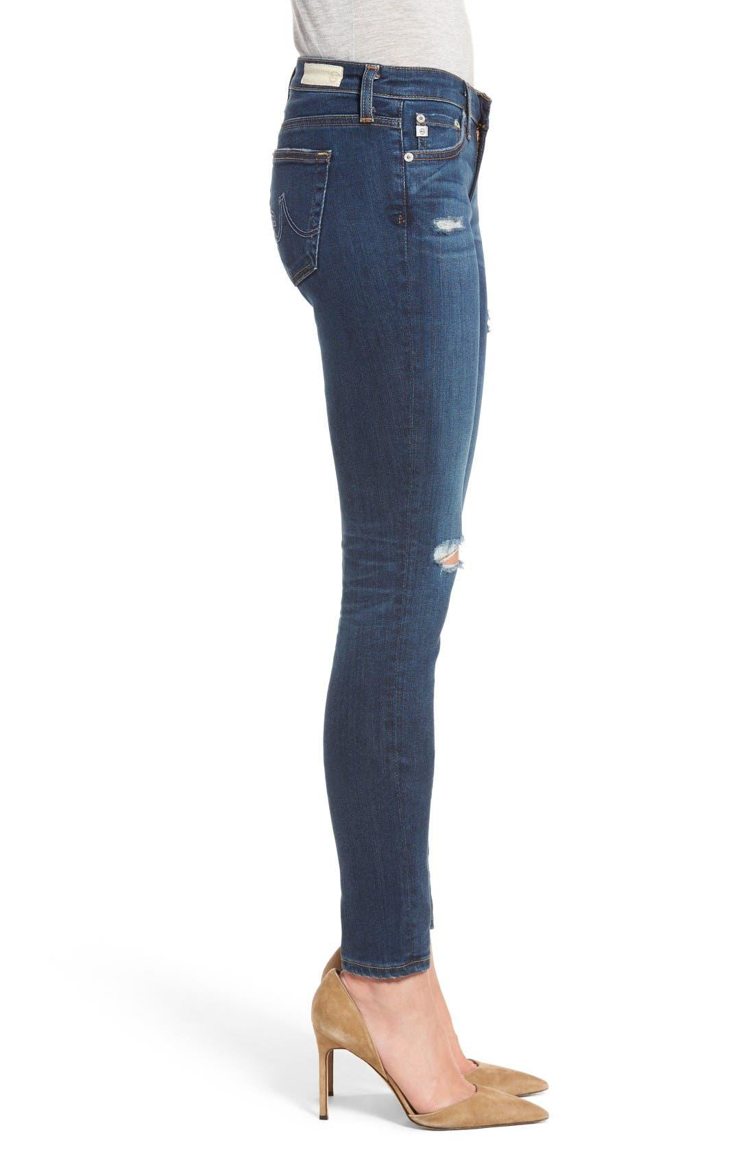 Alternate Image 3  - AG The Legging Super Skinny Jeans (8 Years Wander)