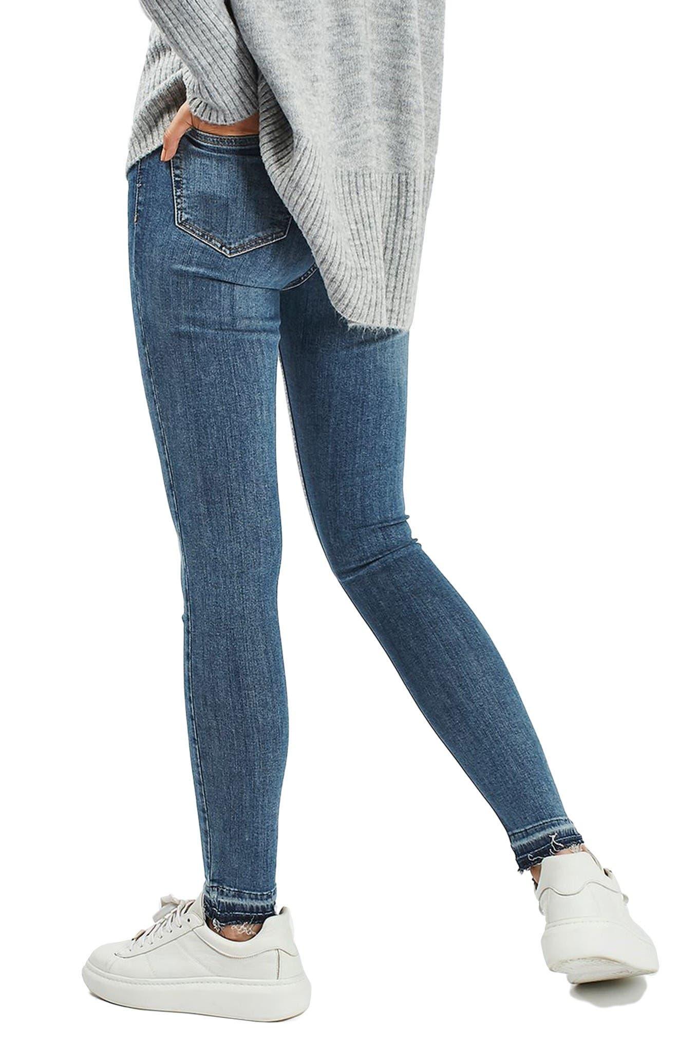 Alternate Image 3  - Topshop Jamie High Rise Let Down Hem Jeans (Petite)
