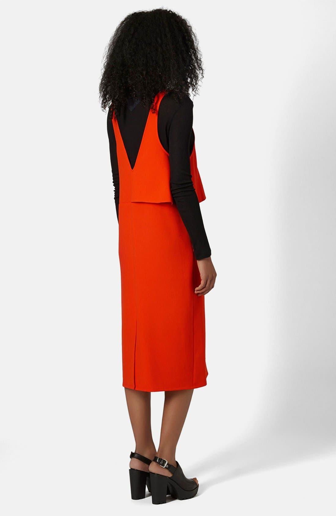 Alternate Image 2  - Topshop Boutique Crepe Layering Dress