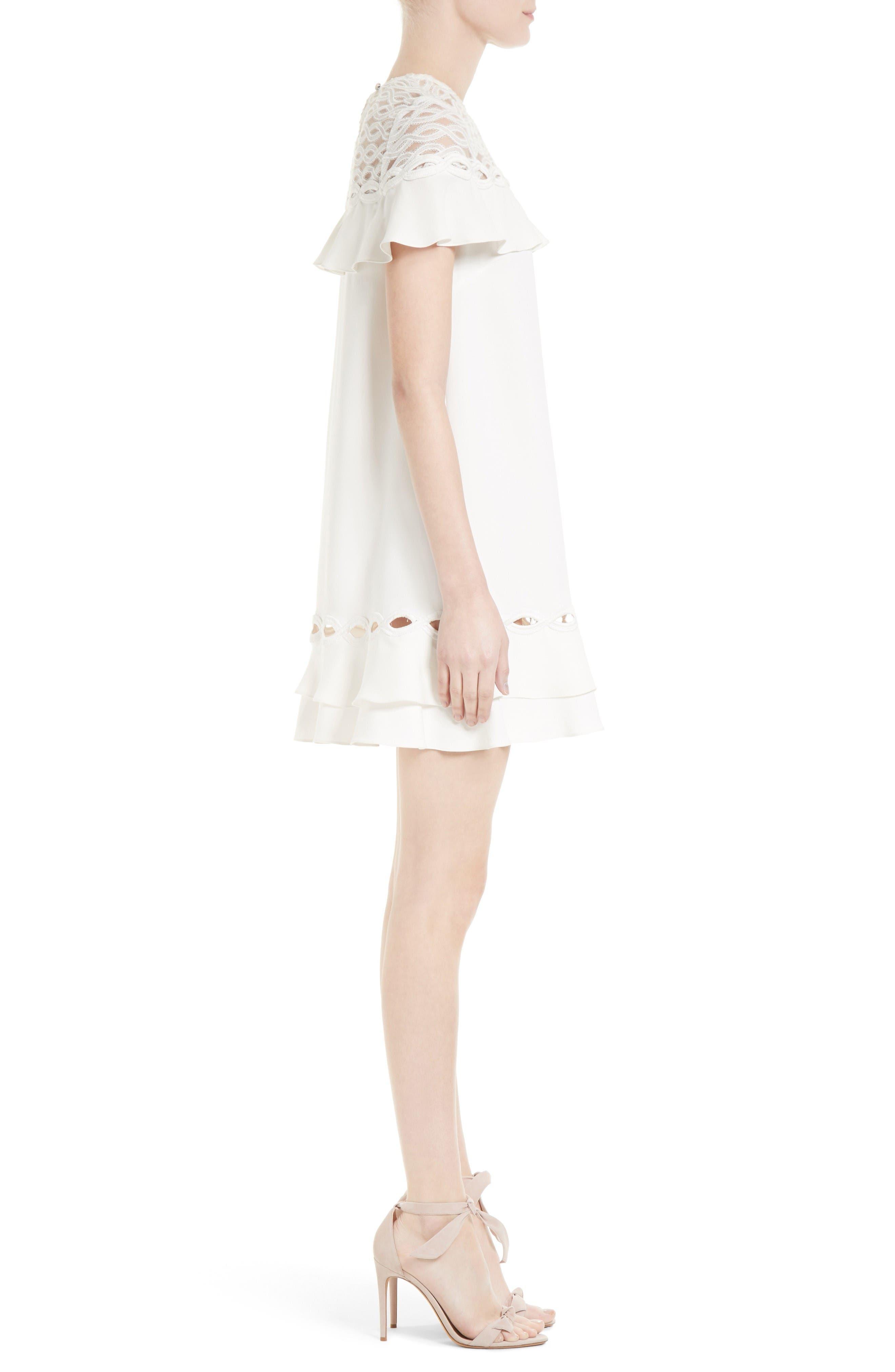 Alternate Image 3  - Jonathan Simkhai Rope Appliqué Ruffle Dress