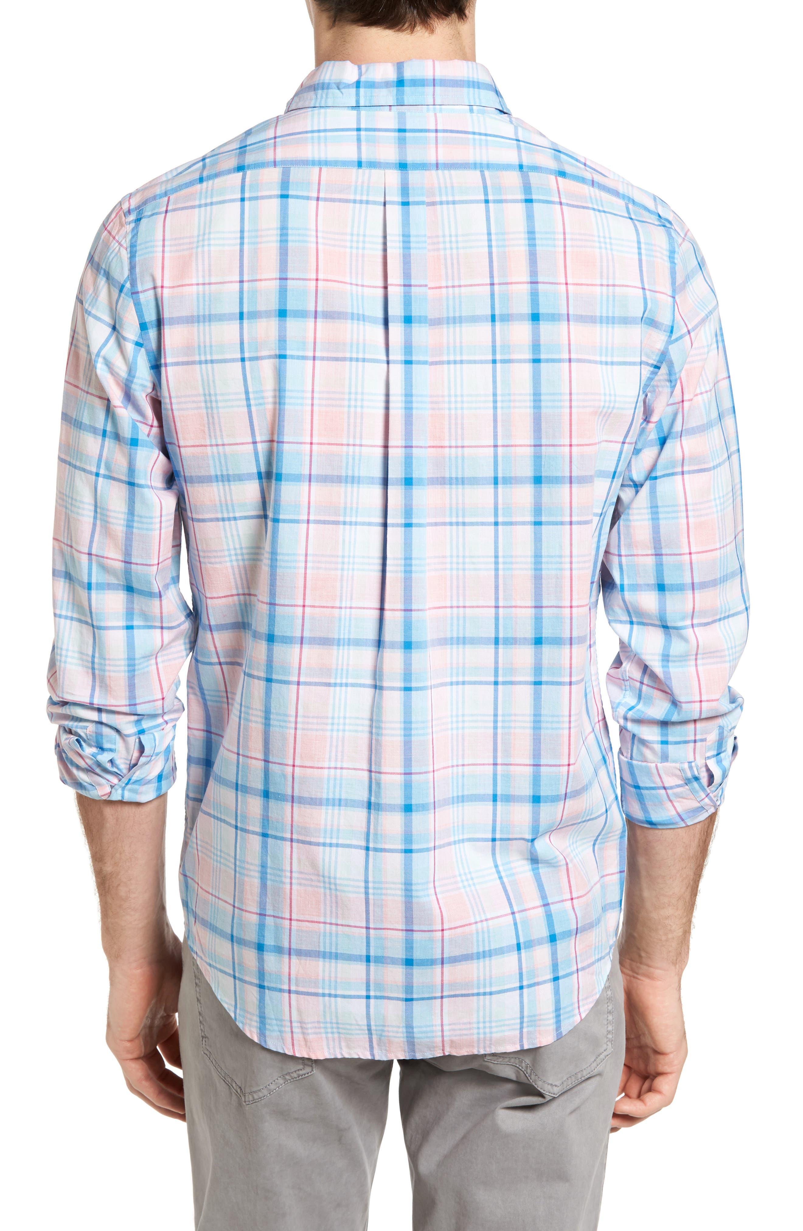 Alternate Image 2  - Vineyard Vines Sabab Rock Tucker Slim Fit Plaid Sport Shirt
