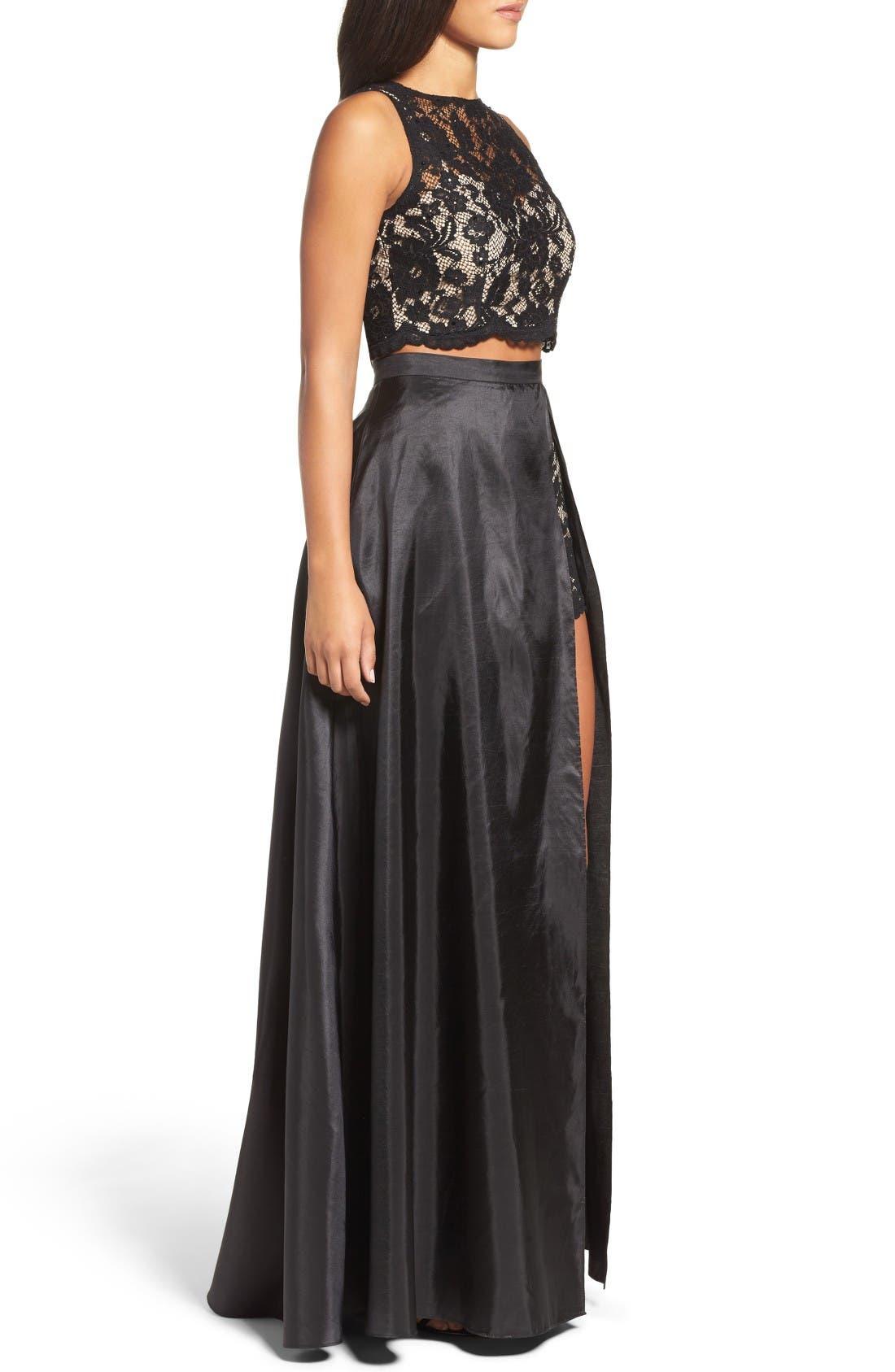 Alternate Image 4  - Xscape Lace & Taffeta Two-Piece Gown