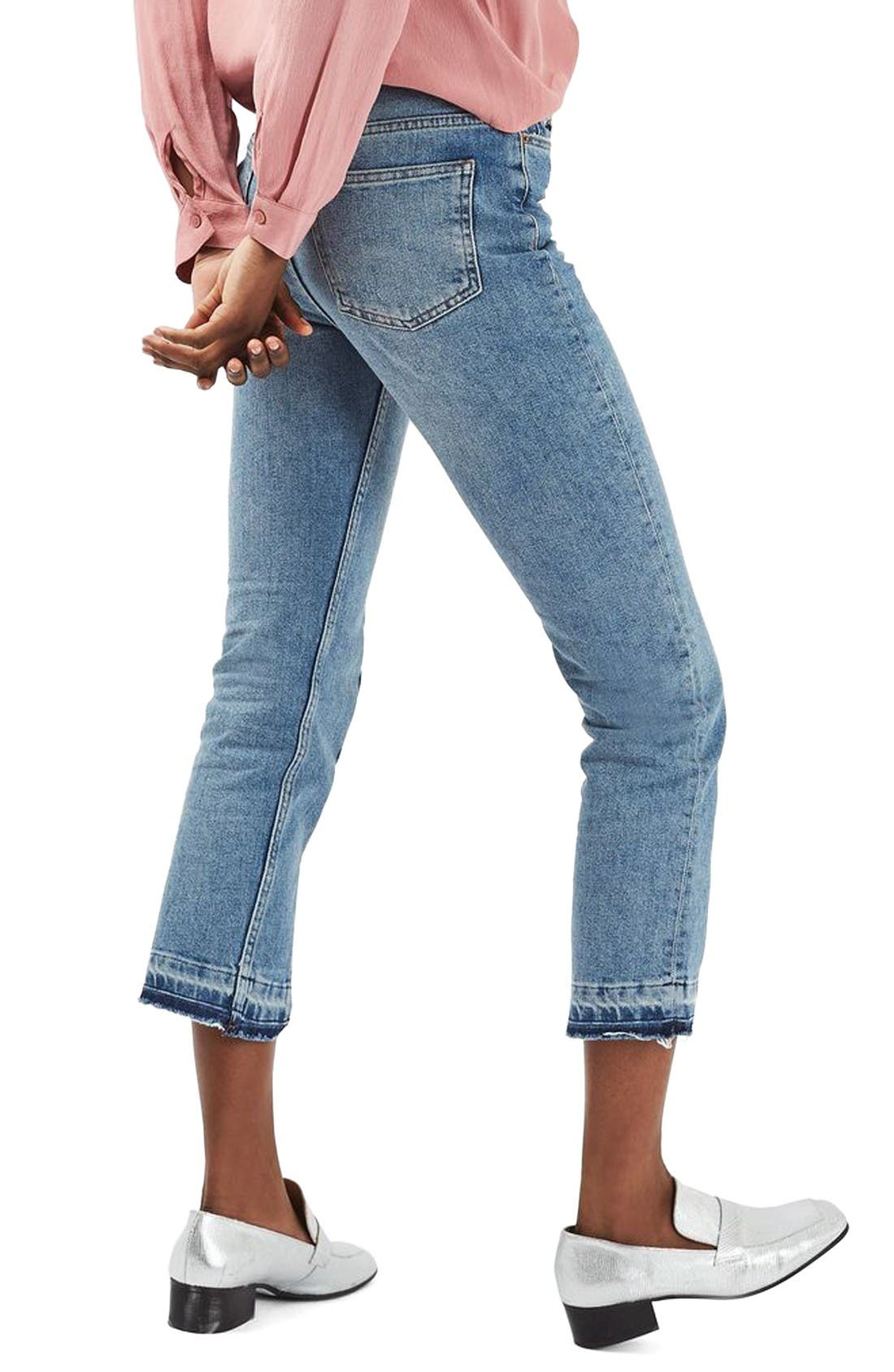 Alternate Image 3  - Topshop Split Hem Straight Leg Jeans