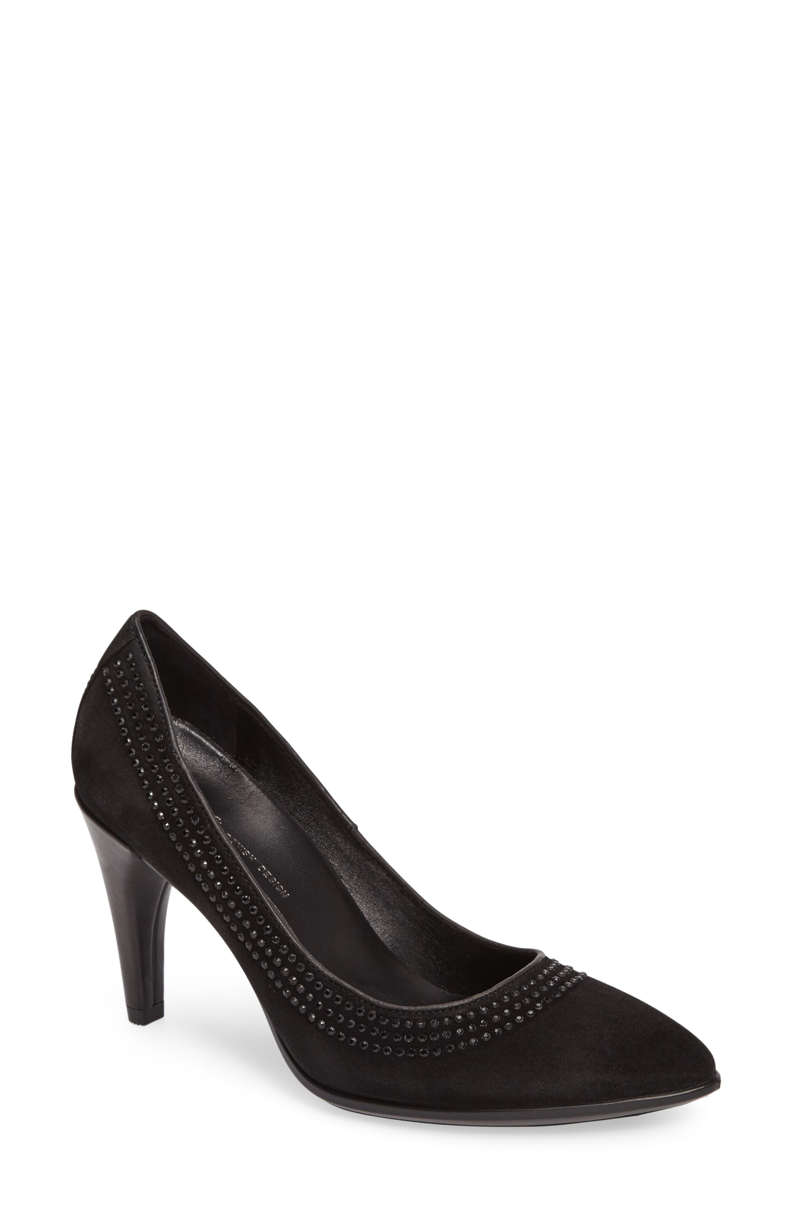 ECCO Shape 75 Embellished Pointy Toe Pump