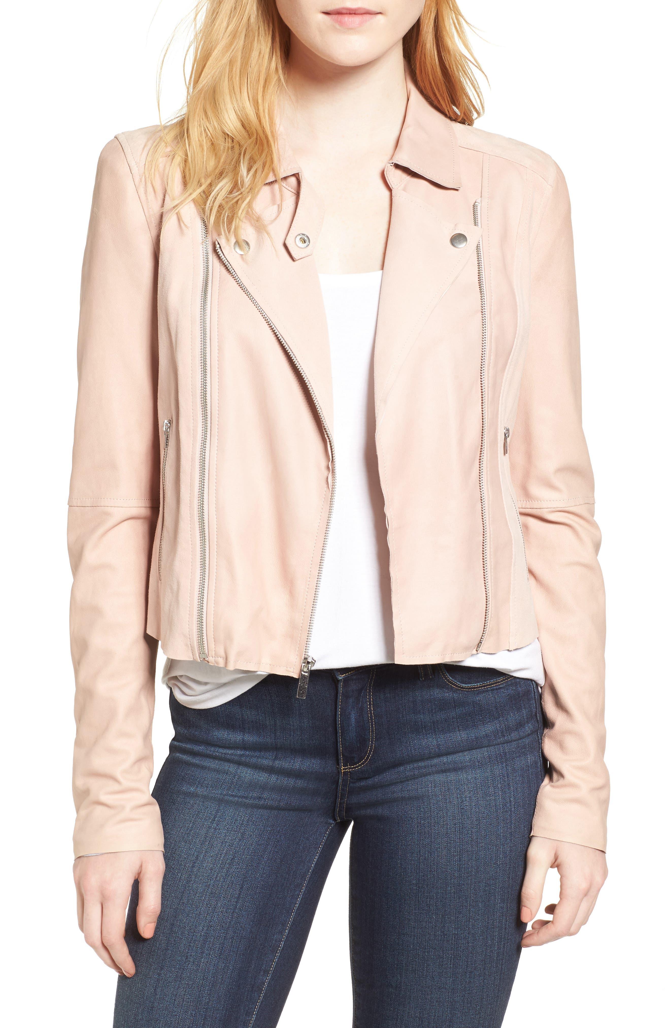 Alternate Image 1 Selected - PAIGE Silvie Leather Moto Jacket