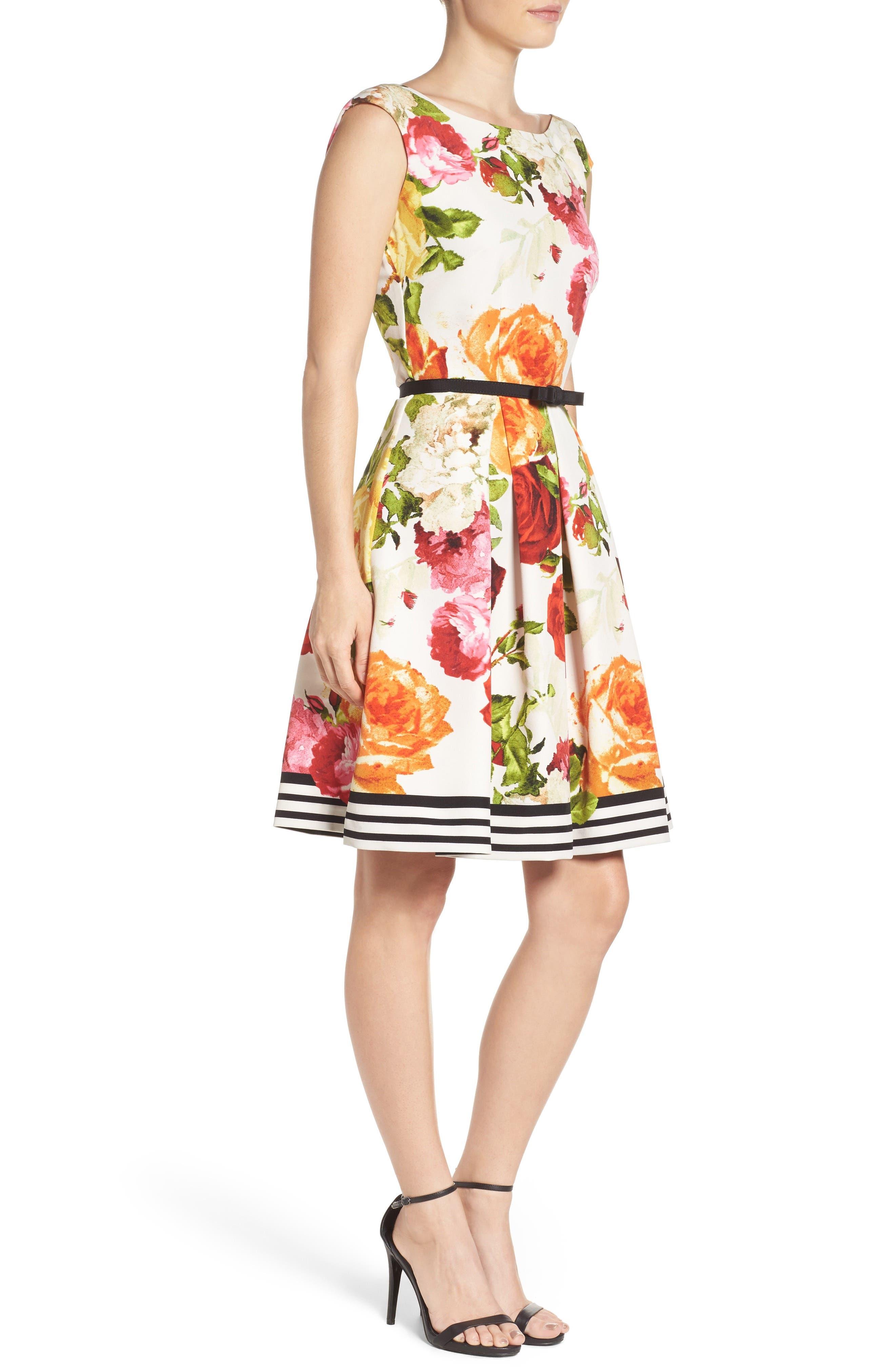 Alternate Image 3  - Gabby Skye Floral Fit & Flare Dress