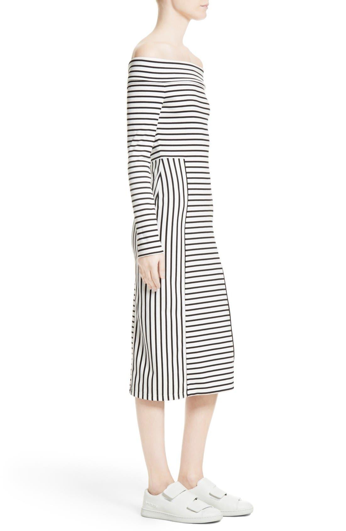 Alternate Image 3  - 10 Crosby Derek Lam Stripe Off the Shoulder Midi Dress