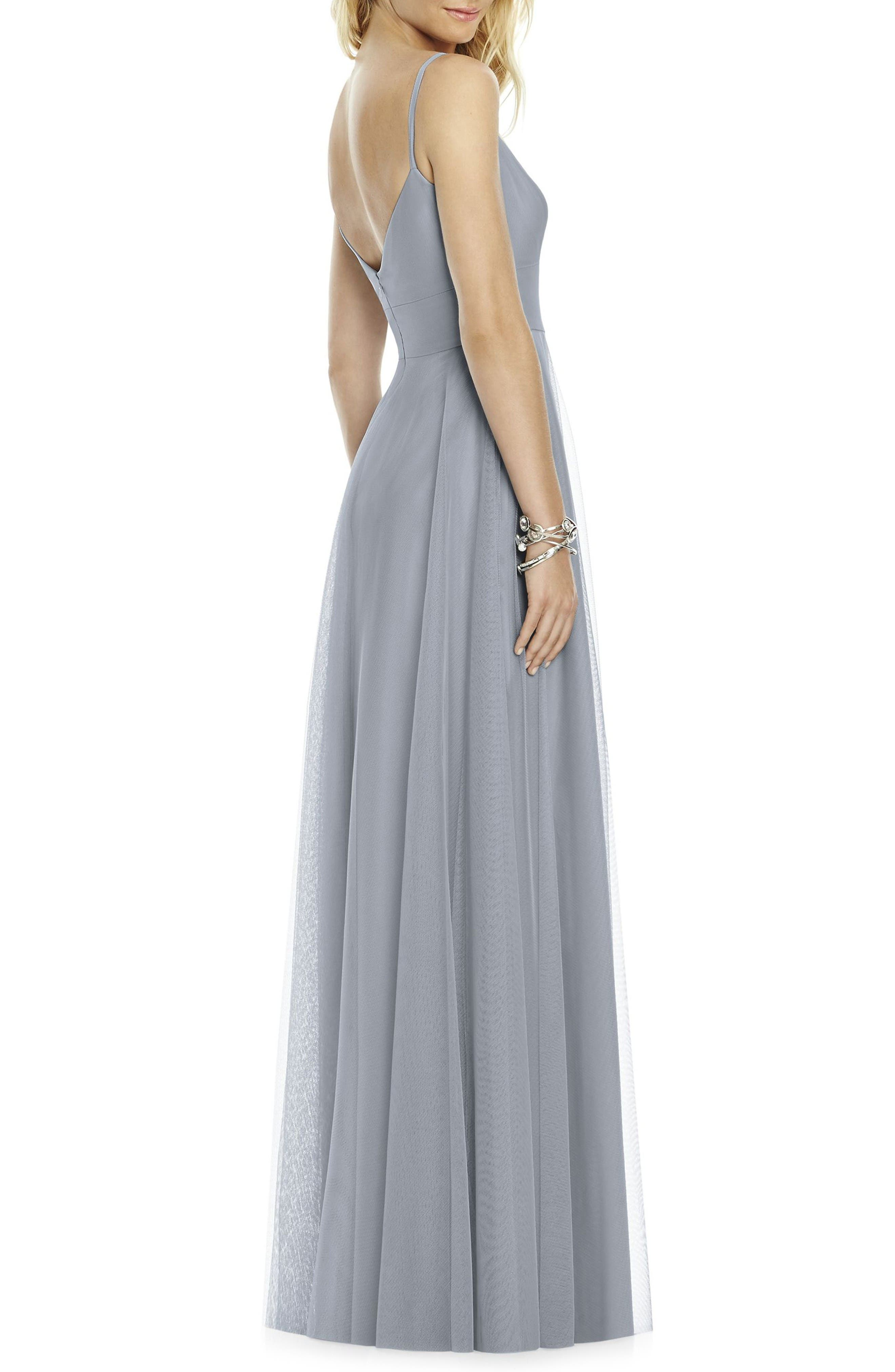 Alternate Image 2  - After Six Sleeveless Tulle A-Line Gown
