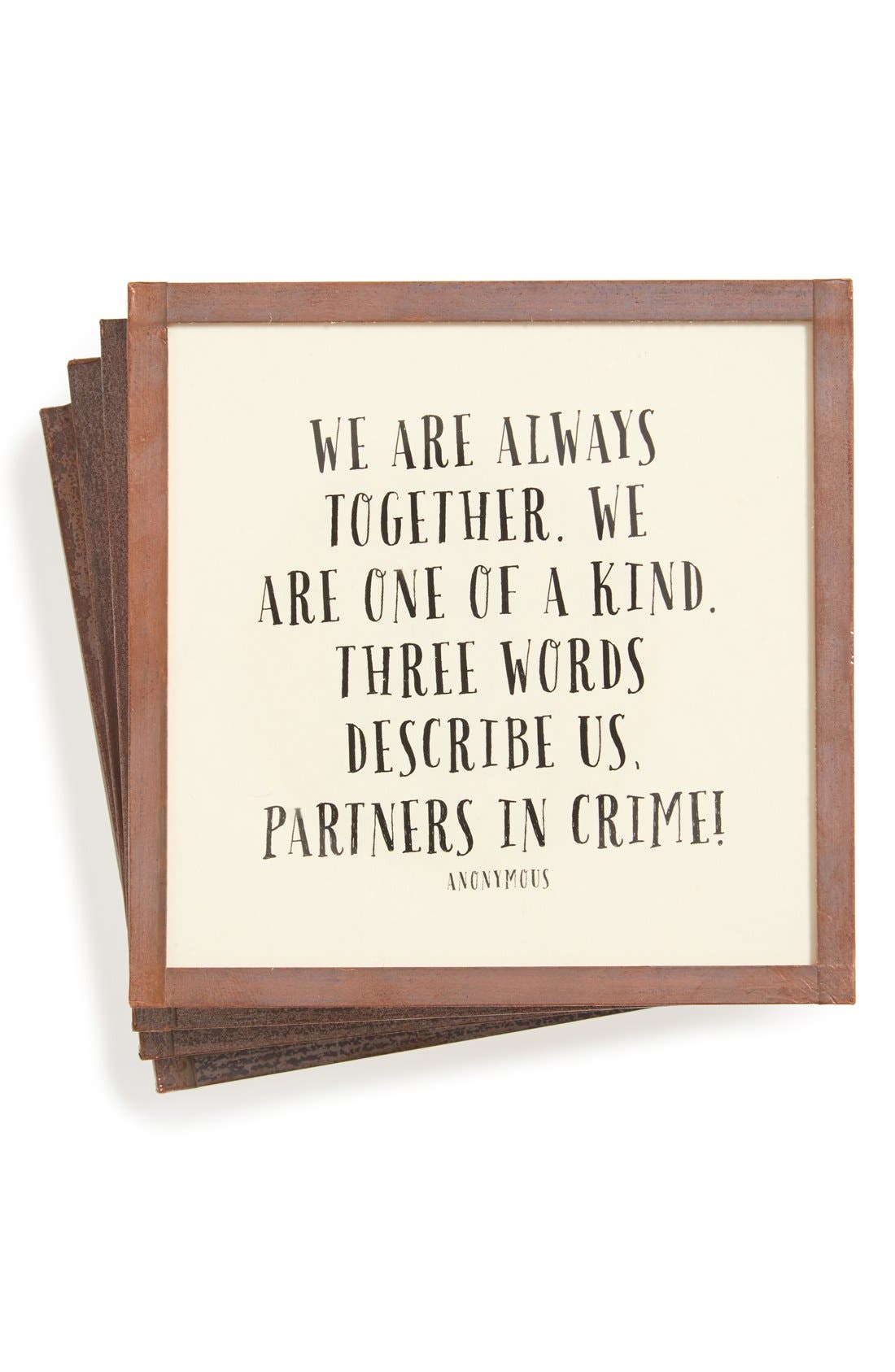 Main Image - Ben's Garden 'We Are Always Together' Coasters (Set of 4)