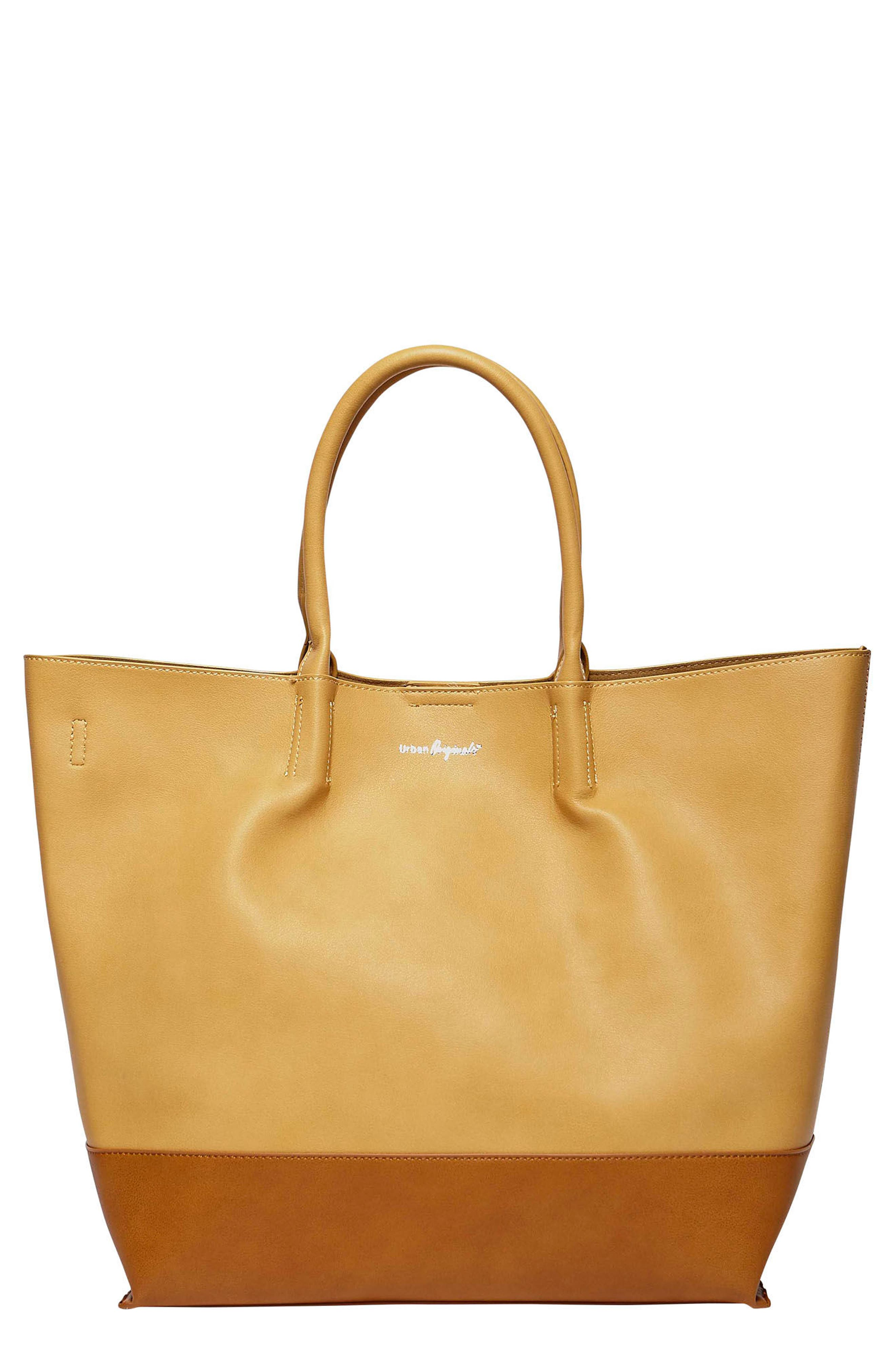 Main Image - Urban Originals Revenge Colorblock Faux Leather Tote