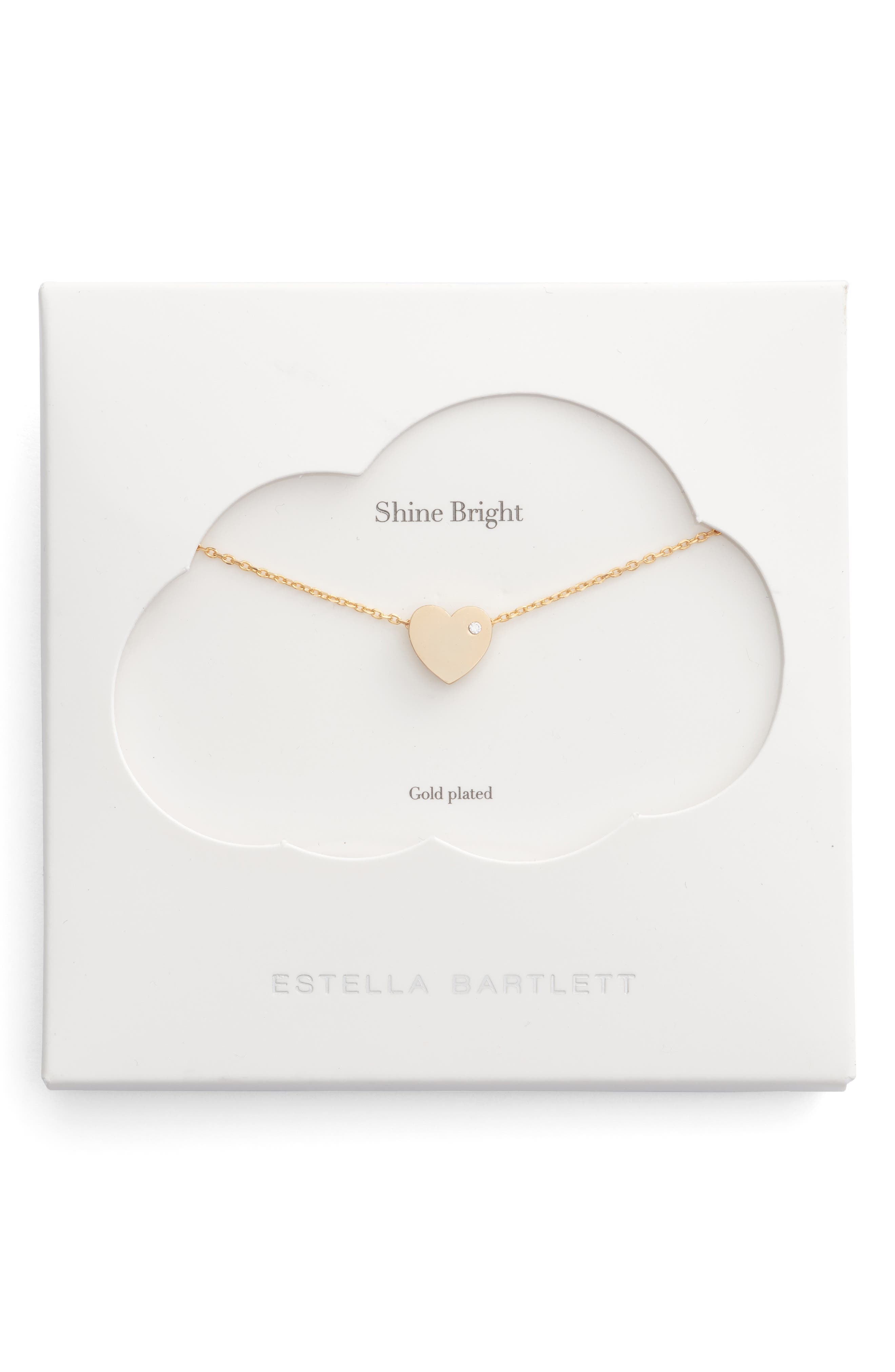 Main Image - Estella Bartlett Shine Bright Heart Necklace