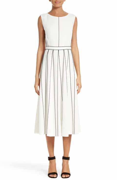 Lafayette 148 New York Mariposa Finesse Crepe Dress