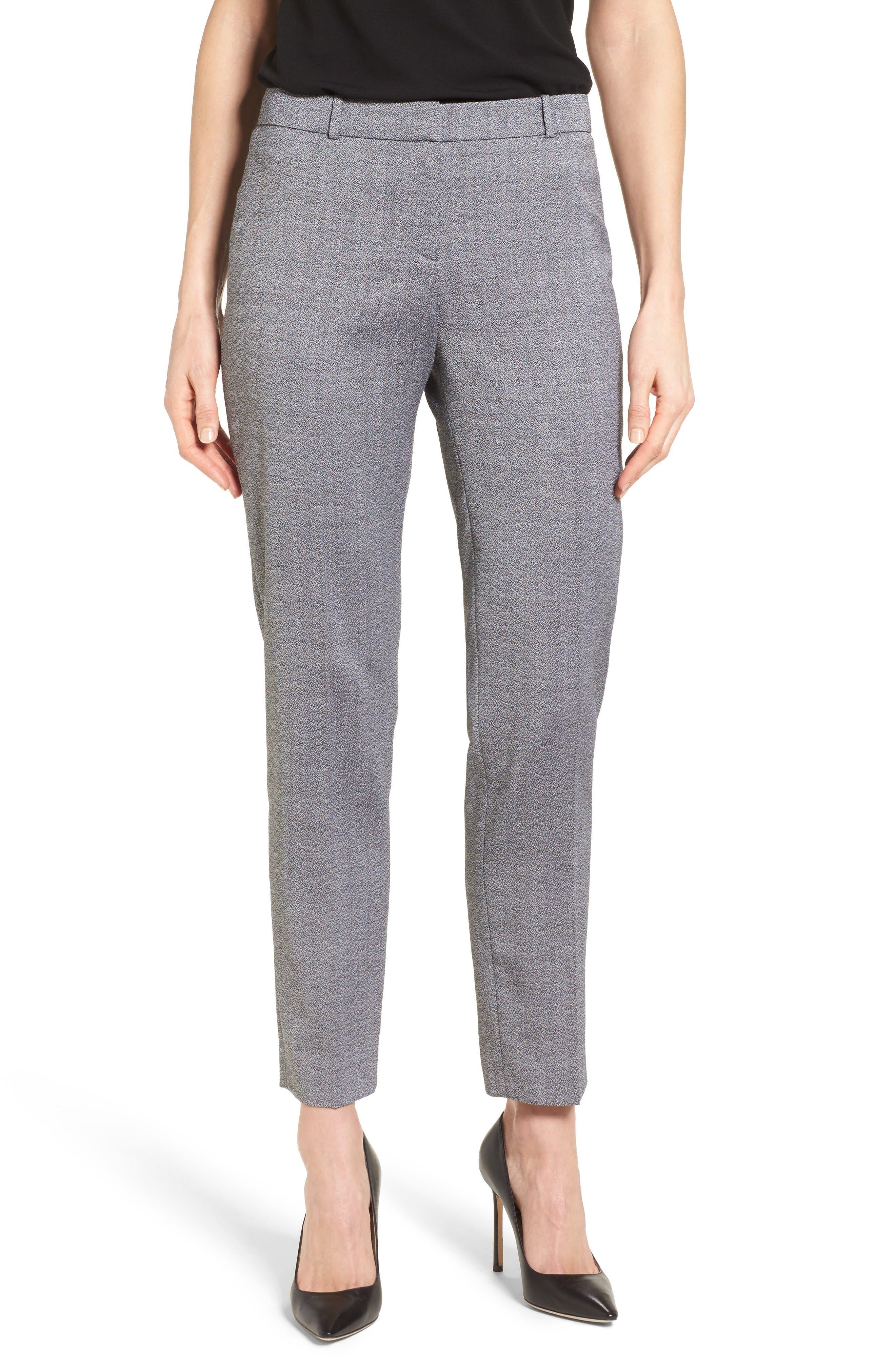 BOSS Tiluna Slim Wool Ankle Trousers (Regular & Petite)