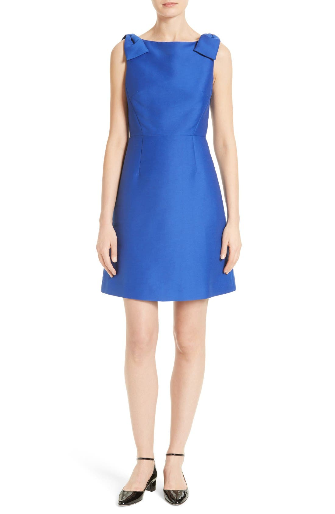 KATE SPADE NEW YORK double bow a-line dress