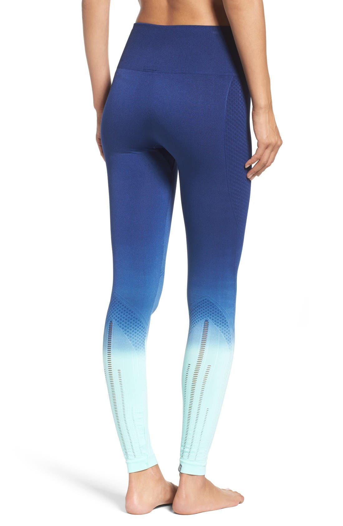 Alternate Image 2  - Climawear Set the Pace High Waist Leggings