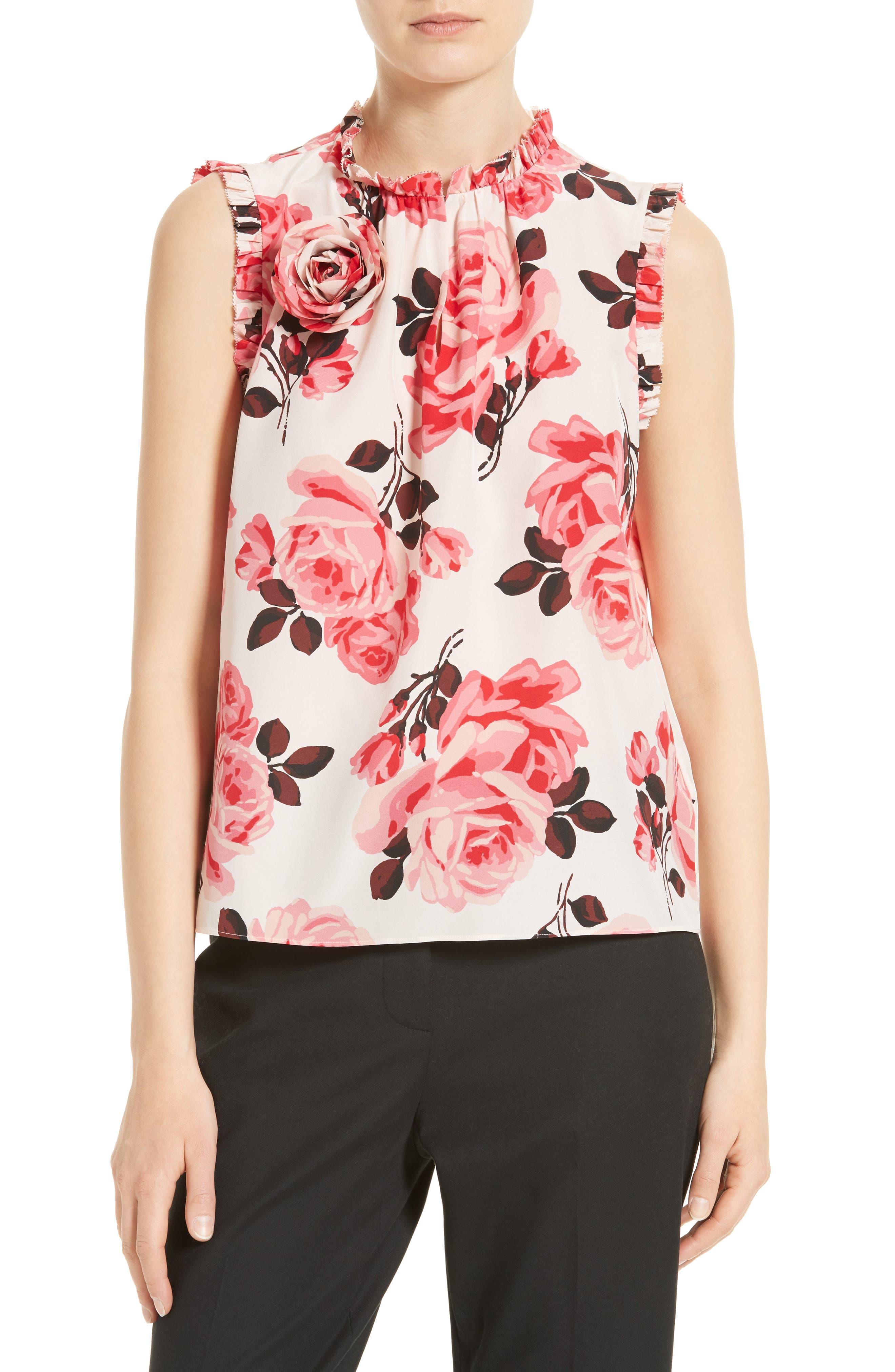 Alternate Image 1 Selected - kate spade new york rosa silk top