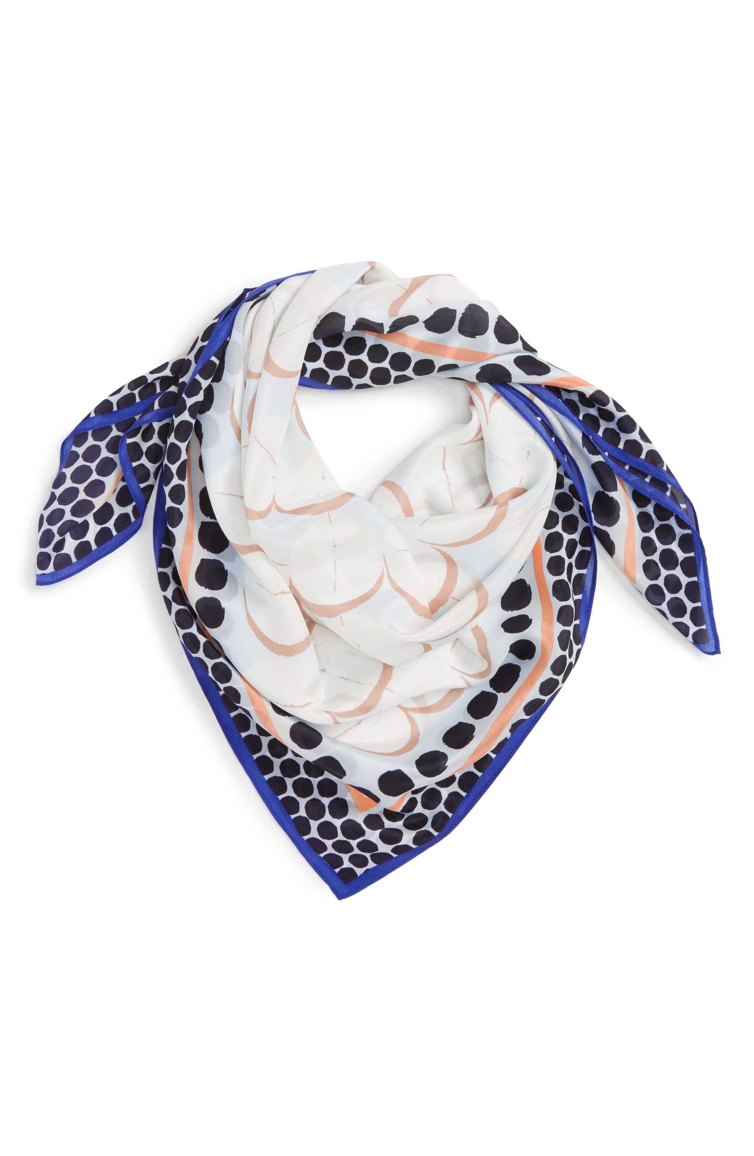 Main Image - Halogen® Downtown Dots Square Silk Scarf