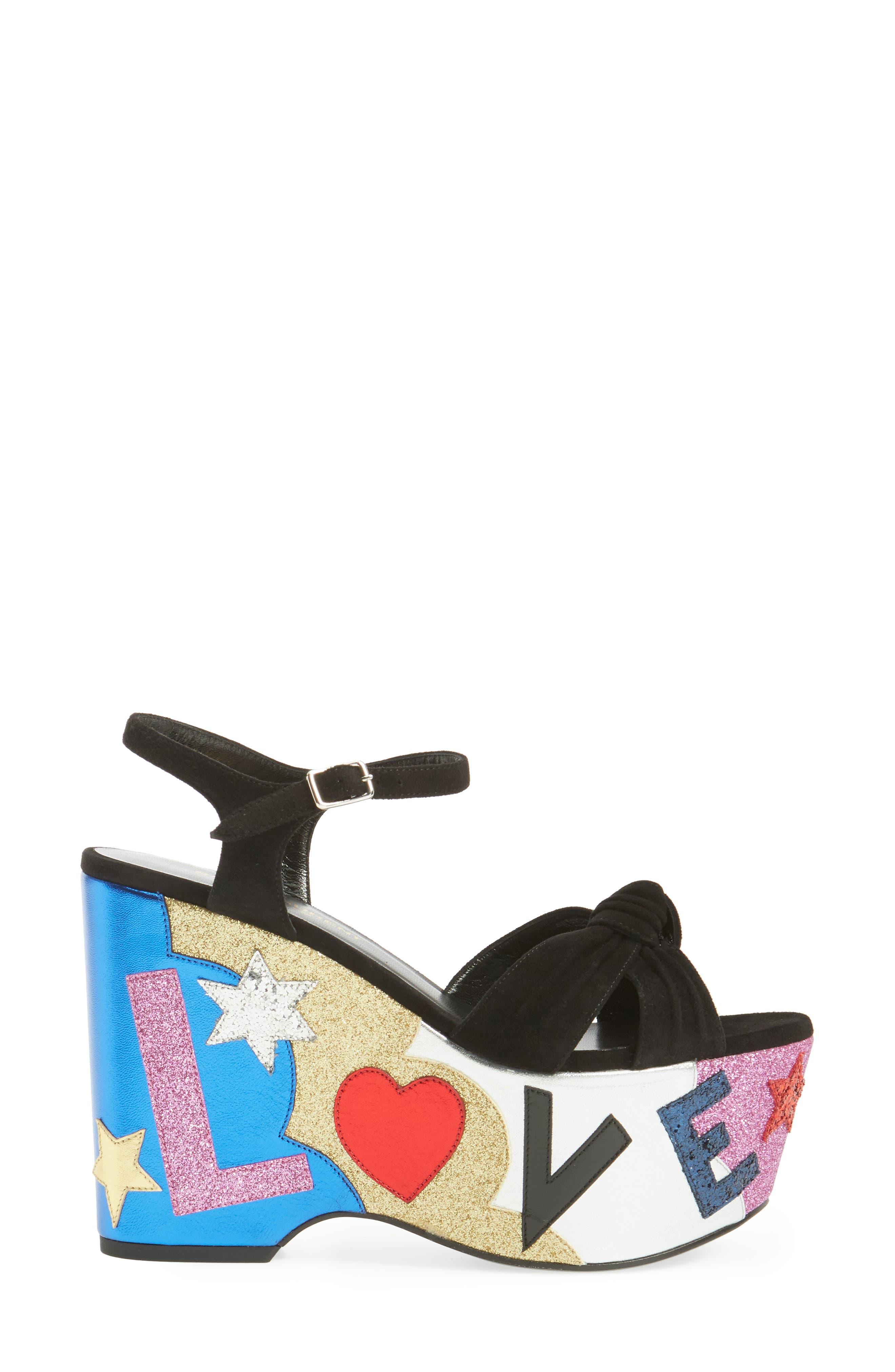 Alternate Image 4  - Saint Laurent Candy Platform Sandal (Women)
