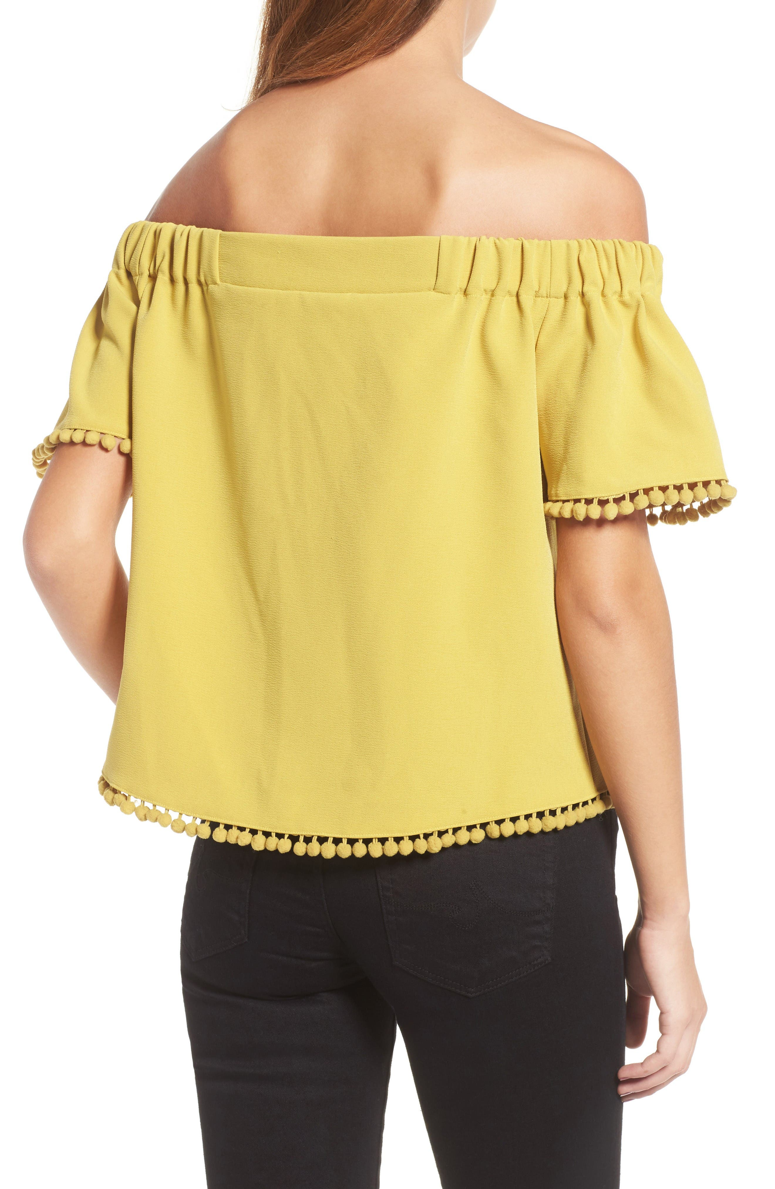 Alternate Image 3  - Willow & Clay Pompom Off the Shoulder Top