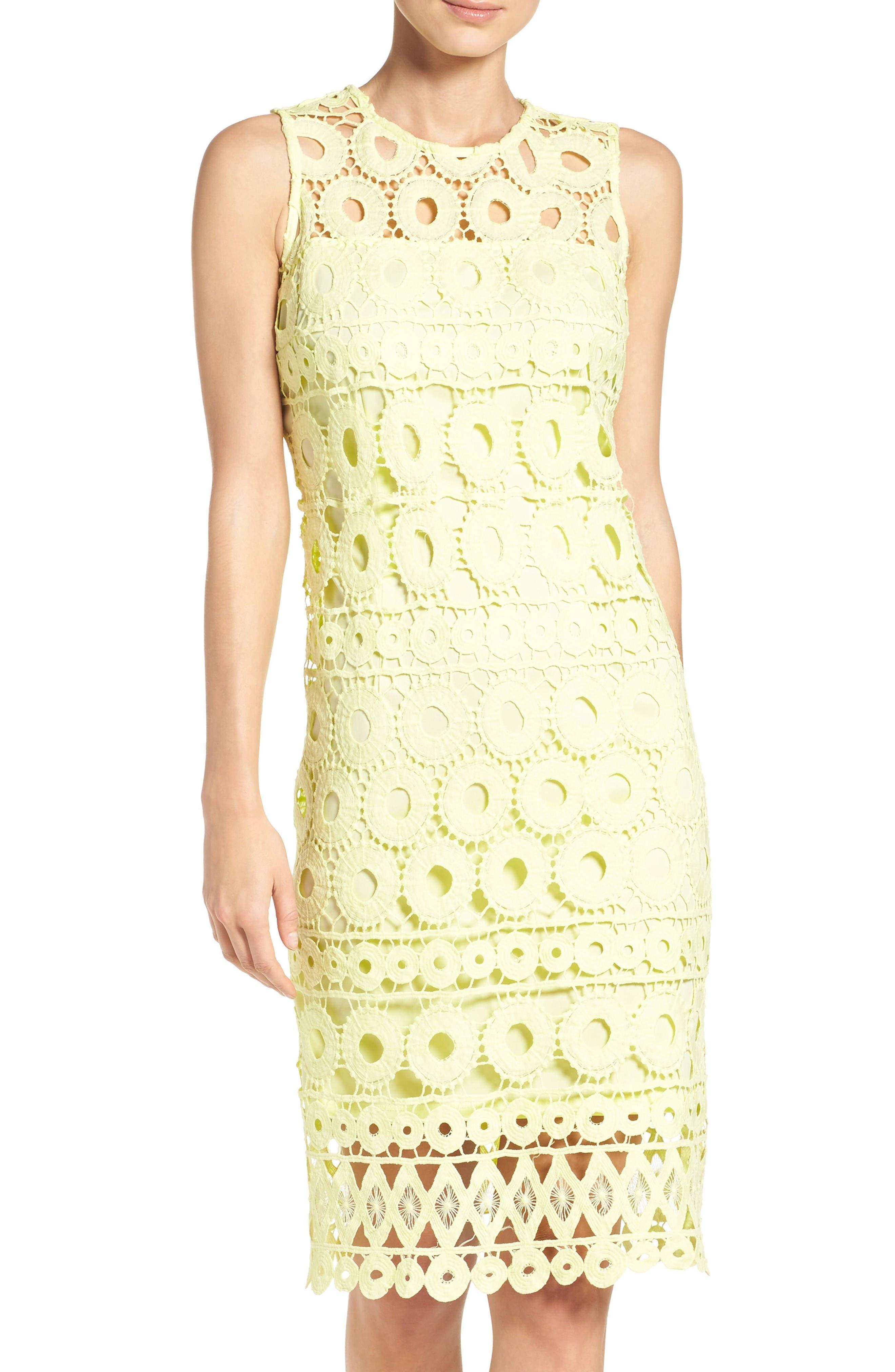 Taylor Dresses Lace Sheath Dress