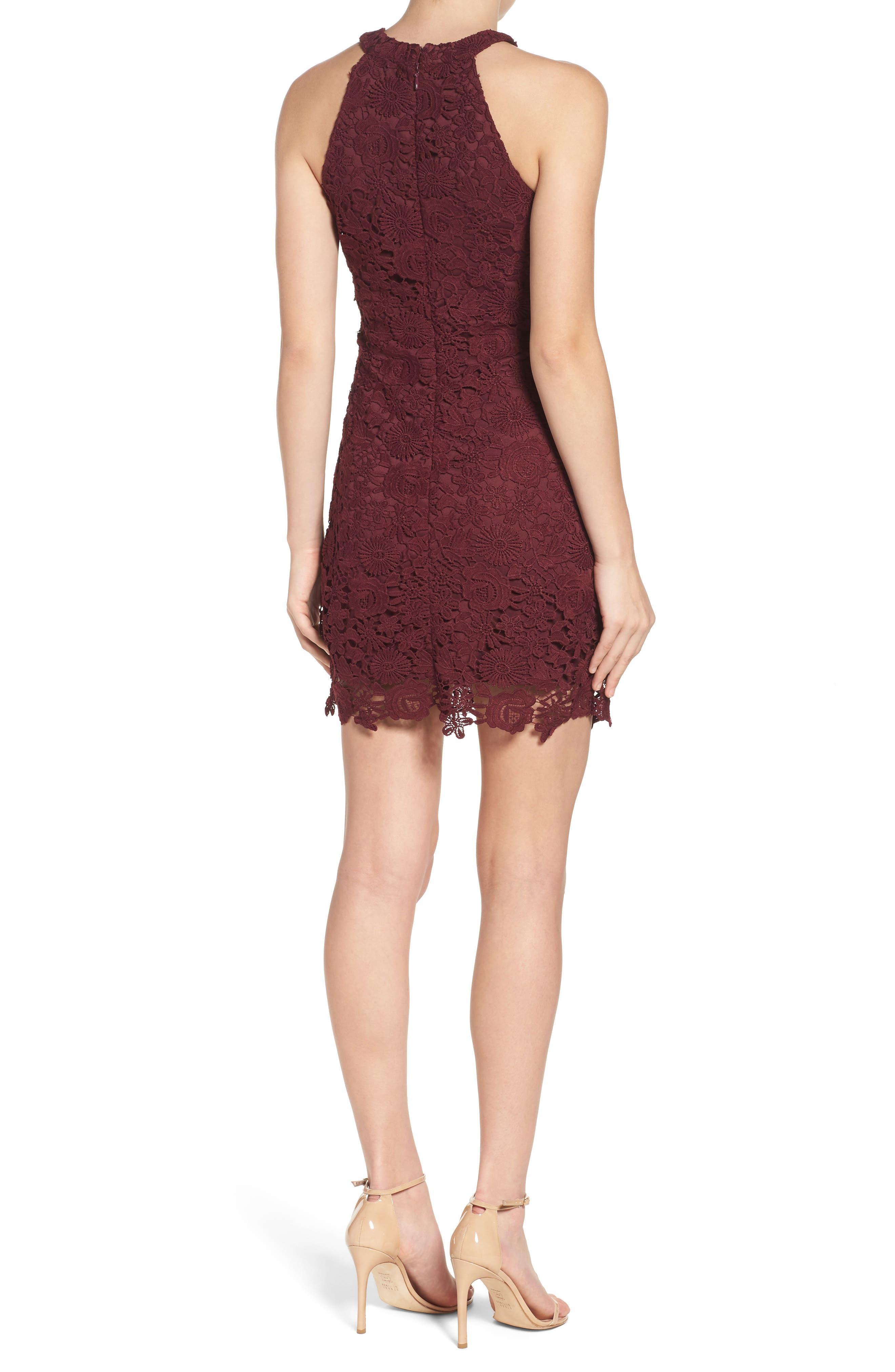 Alternate Image 2  - Lulus Lace Halter Dress