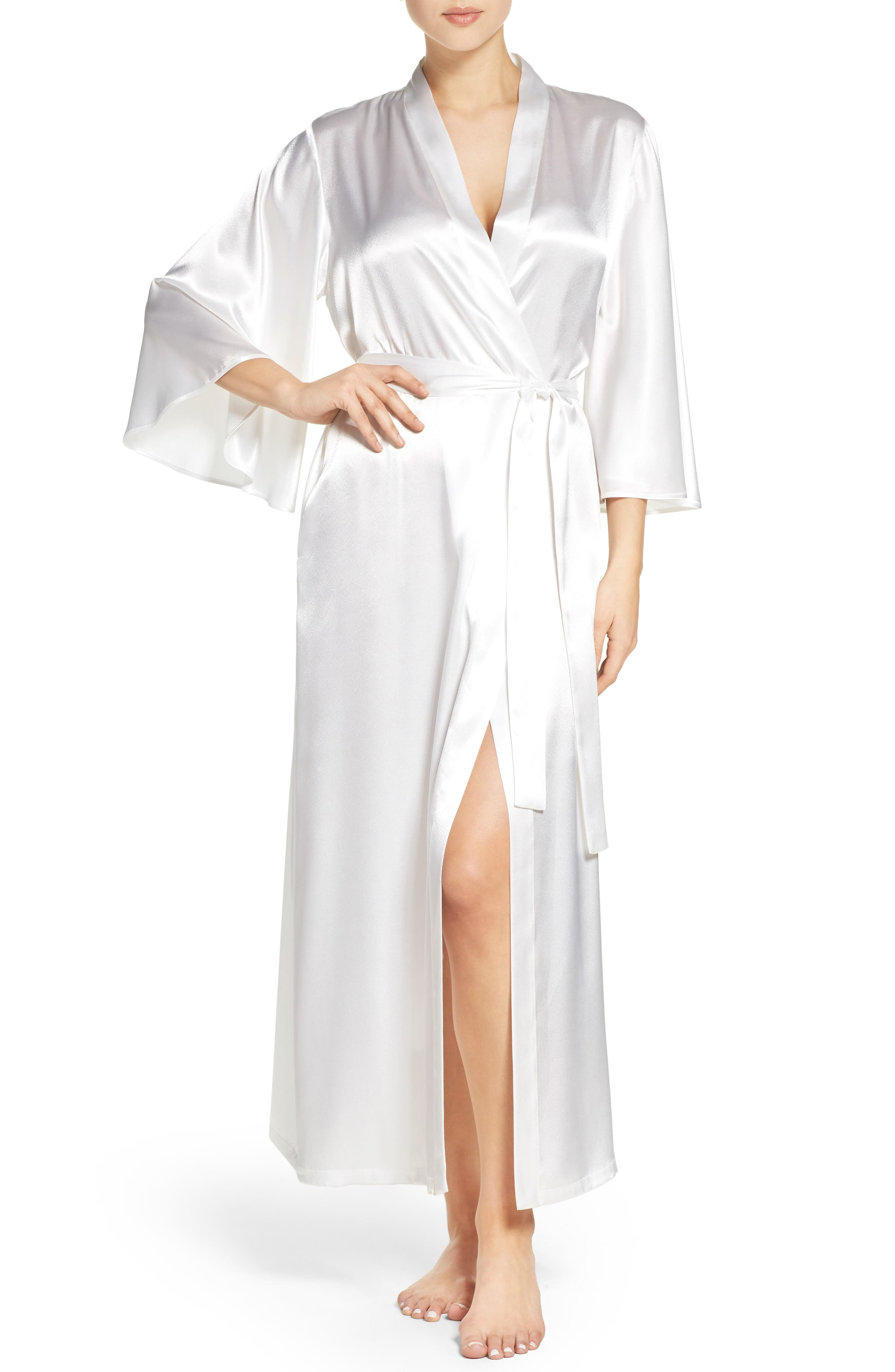 Oscar de la Renta Sleepwear Charmeuse Robe