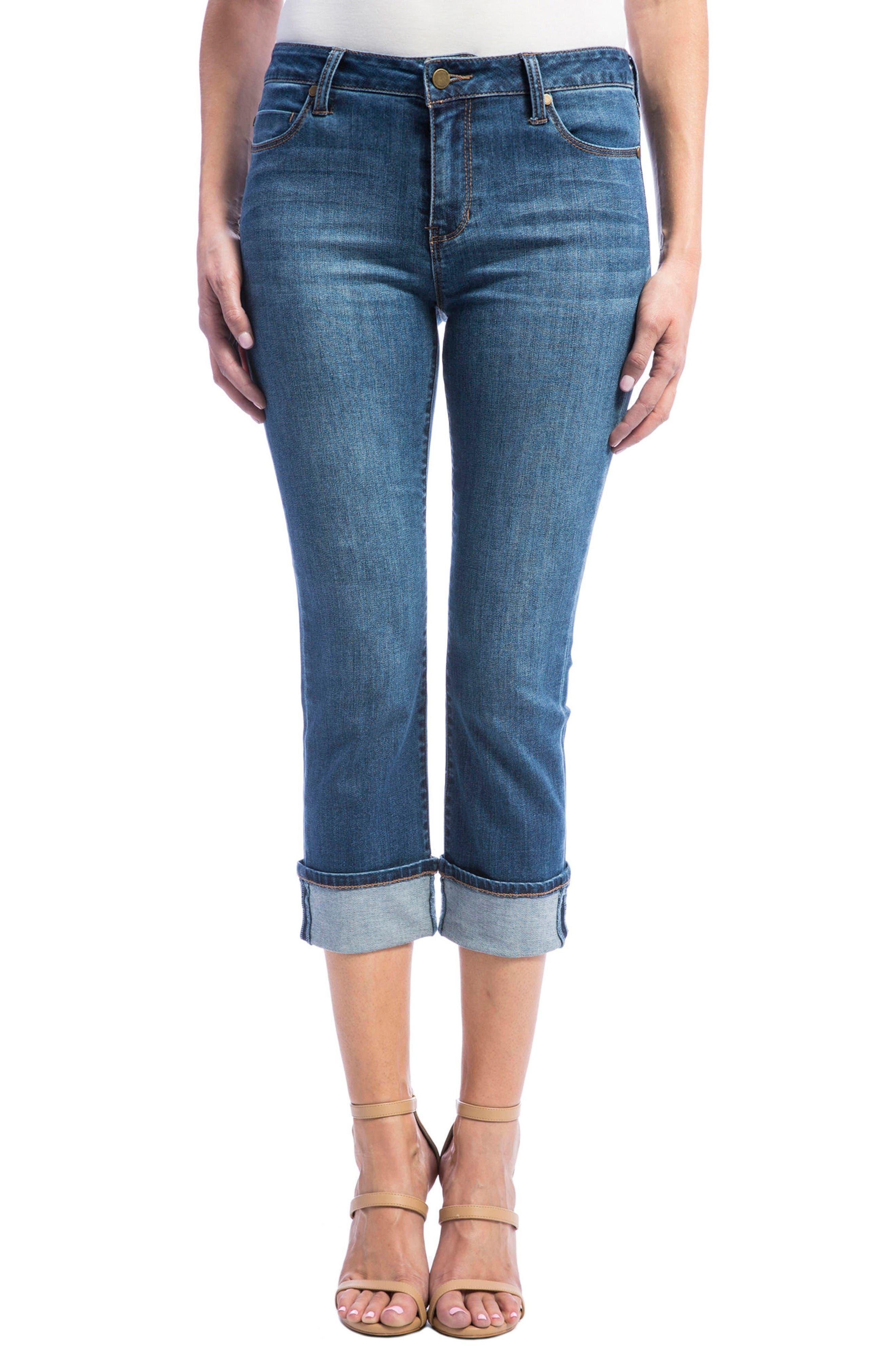 Liverpool Jeans Company Stretch Wide Cuff Capri Jeans