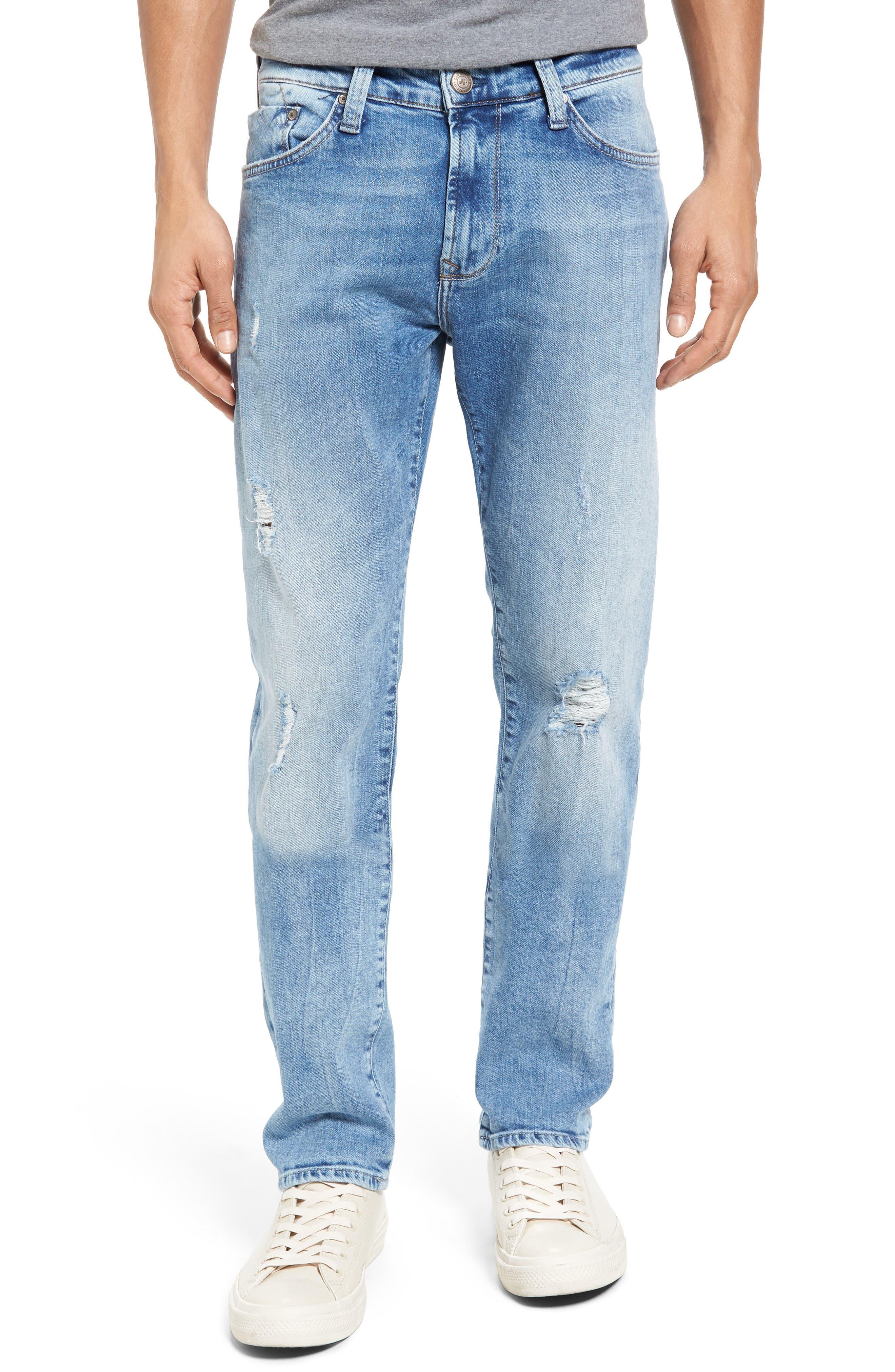 Alternate Image 1 Selected - Mavi Jeans Jake Easy Slim Fit Jeans (Ripped)
