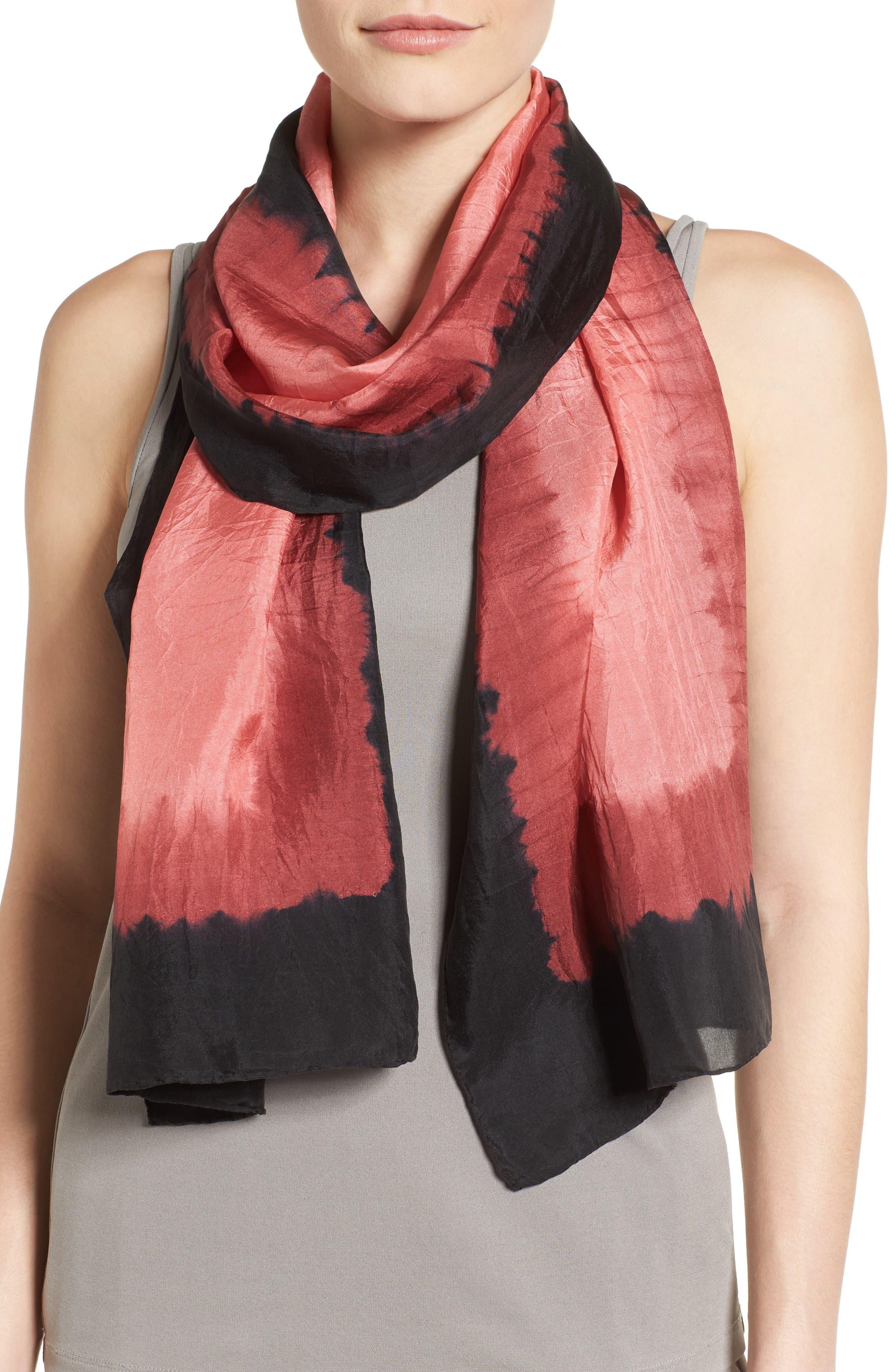 Eileen Fisher Dip Dye Silk Scarf