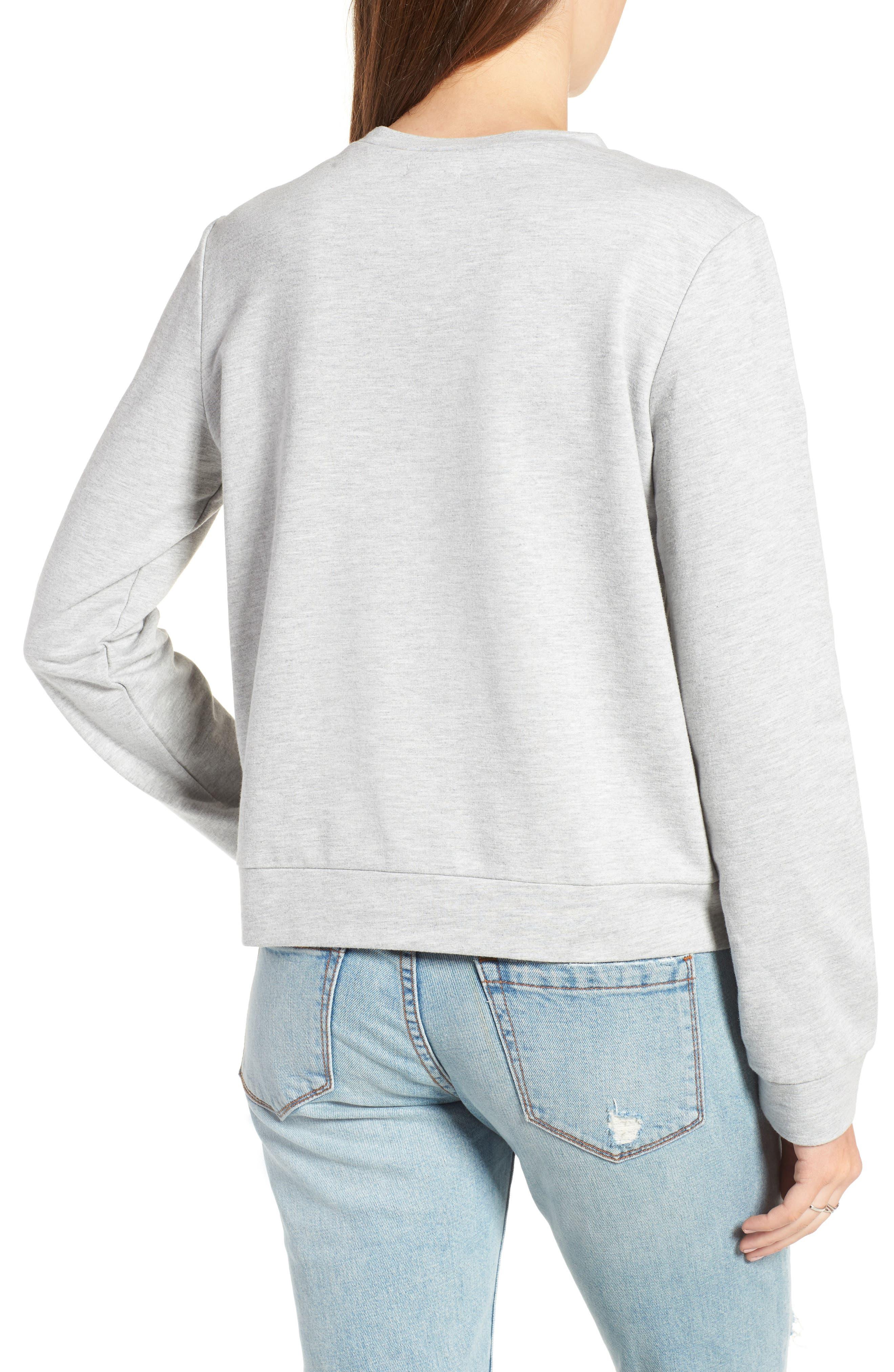 Alternate Image 2  - Love, Fire Ruffle Front Sweatshirt