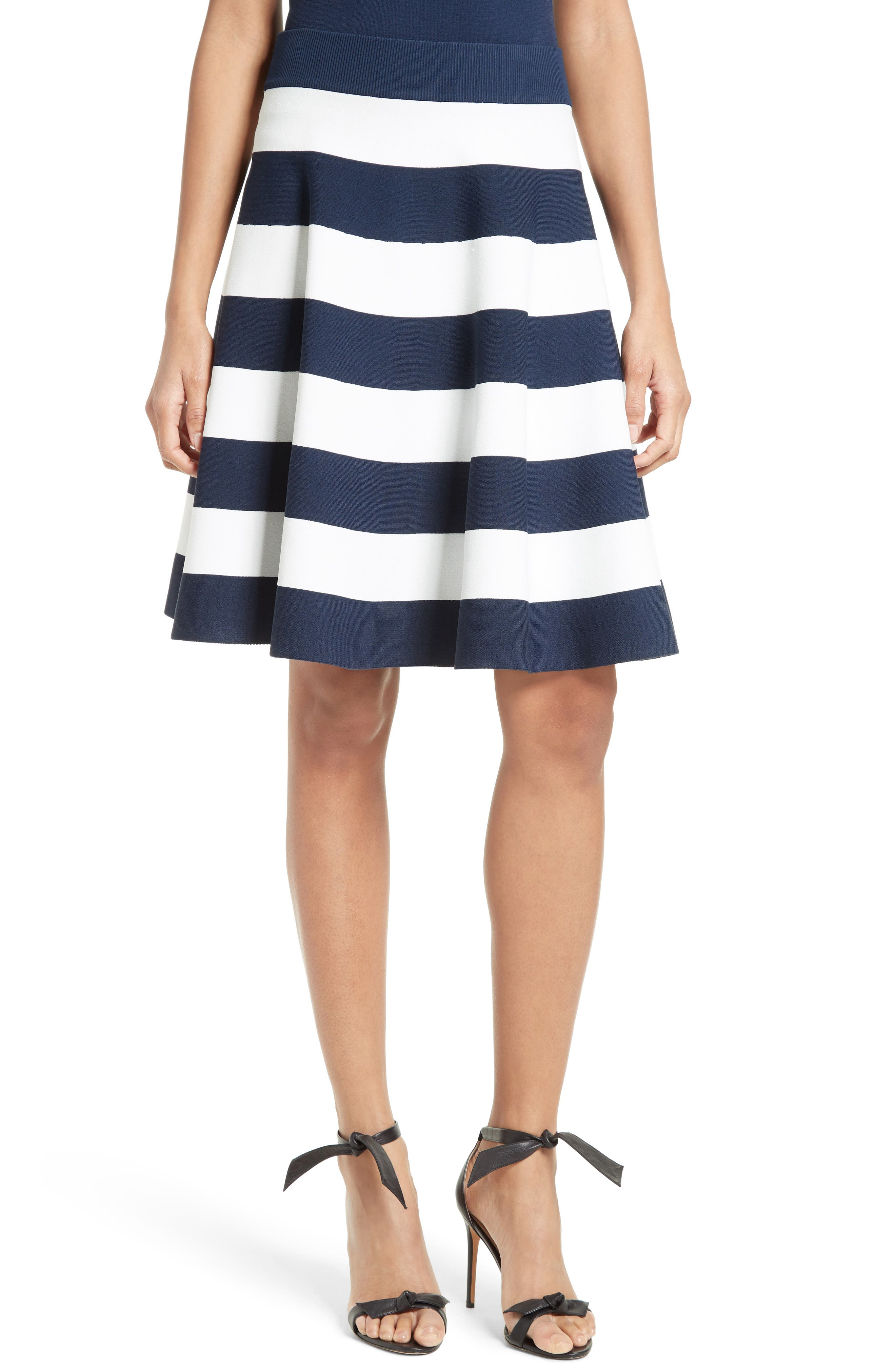 Alternate Image 1 Selected - Milly Stripe Circle Skirt