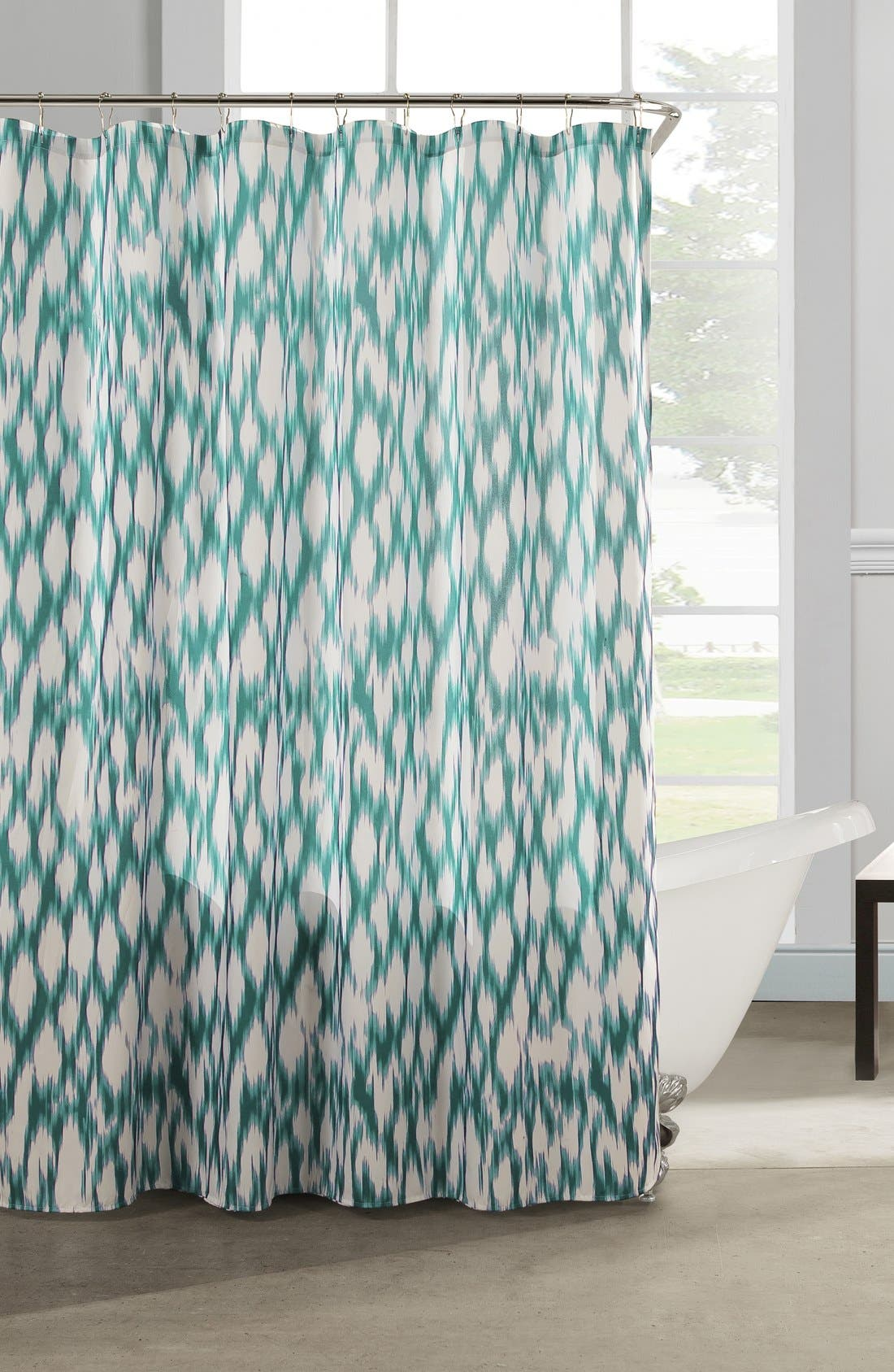 Coral and aqua shower curtain - Coral And Aqua Shower Curtain