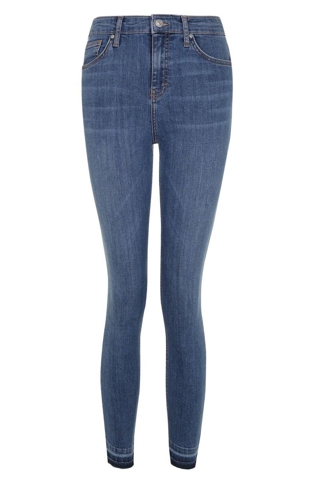 Alternate Image 4  - Topshop Jamie Crop Skinny Jeans (Tall)