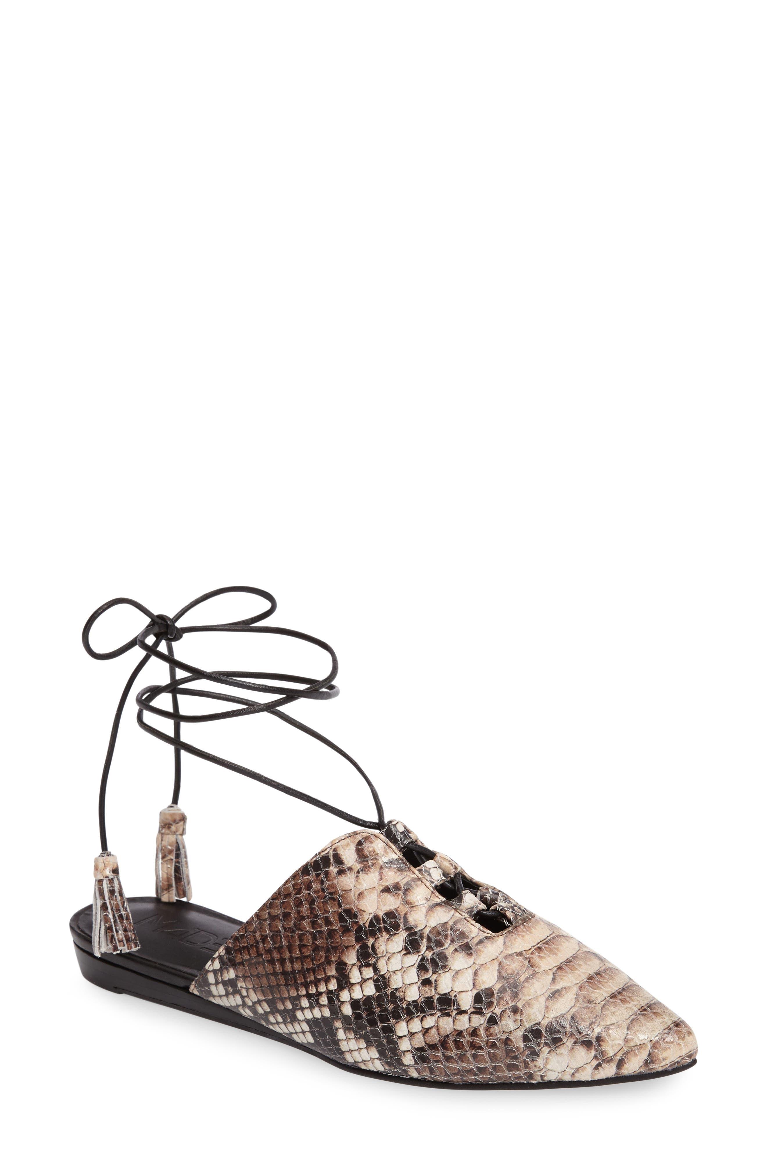 M4D3 Della Ankle Wrap Flat Mule (Women)