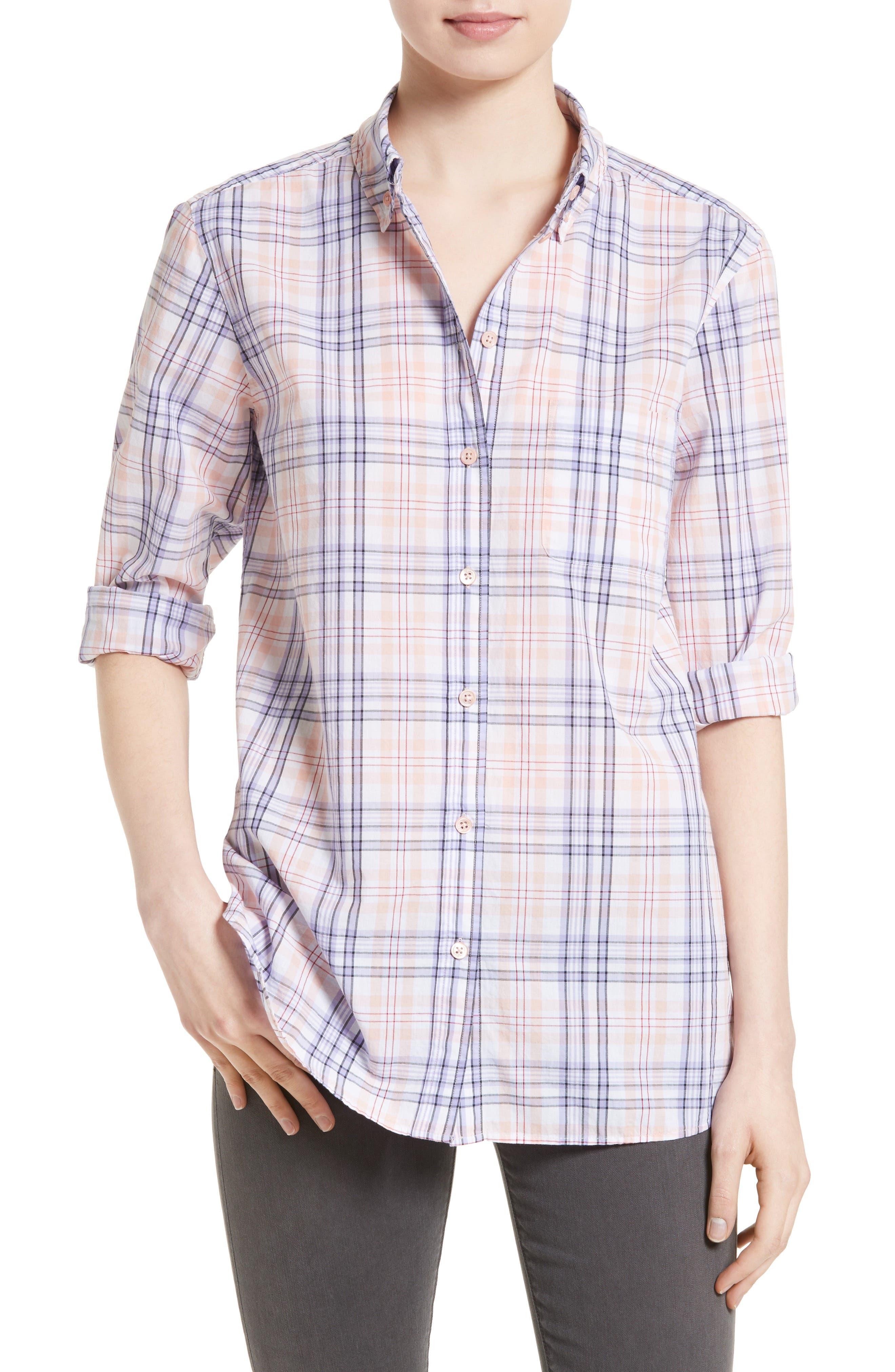 Equipment Margaux Plaid Cotton Shirt