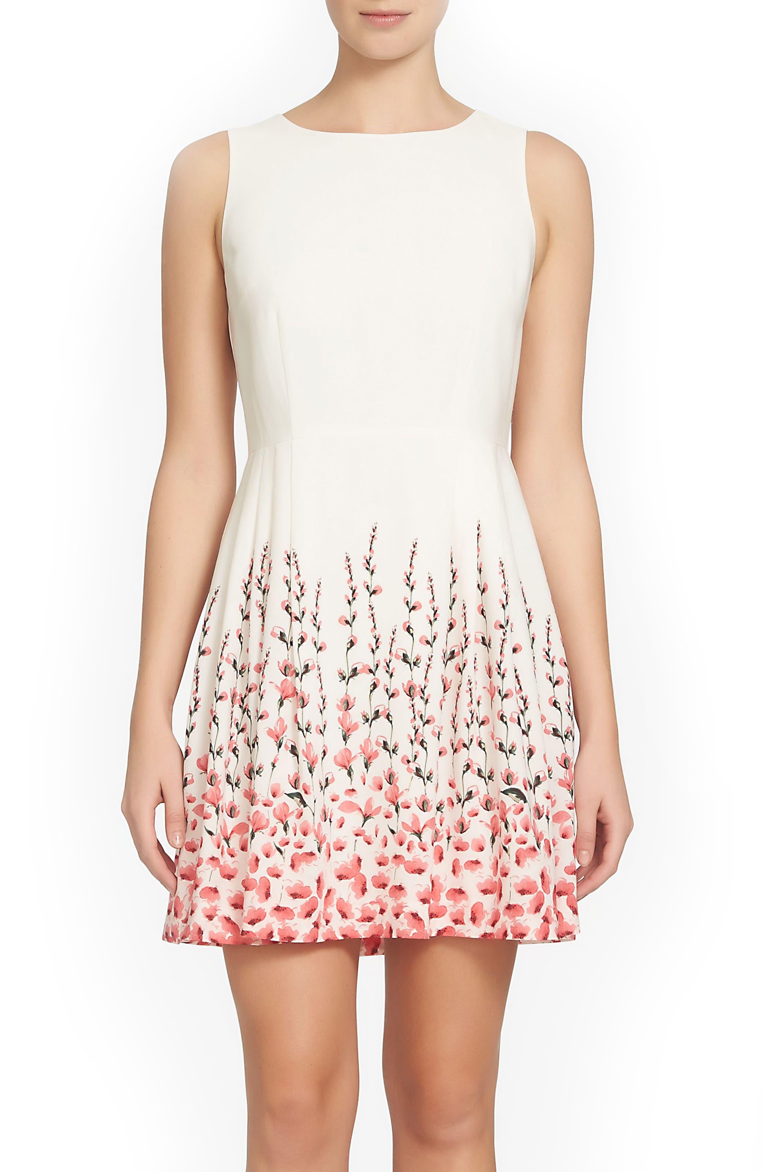 Alternate Image 1 Selected - CeCe Claiborne Fit & Flare Dress (Regular & Petite)