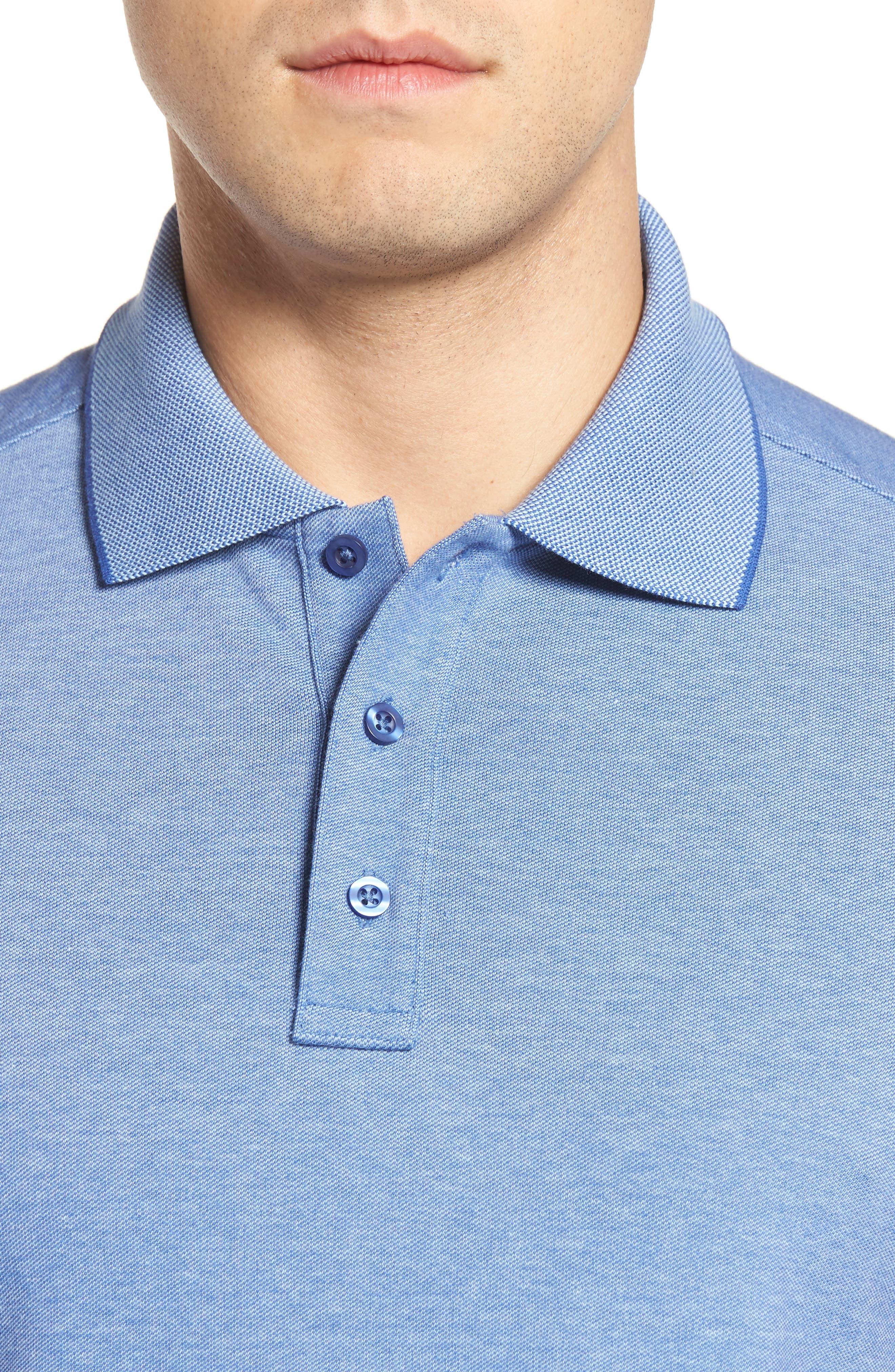 Alternate Image 4  - Nordstrom Men's Shop Classic Regular Fit Oxford Piqué Polo