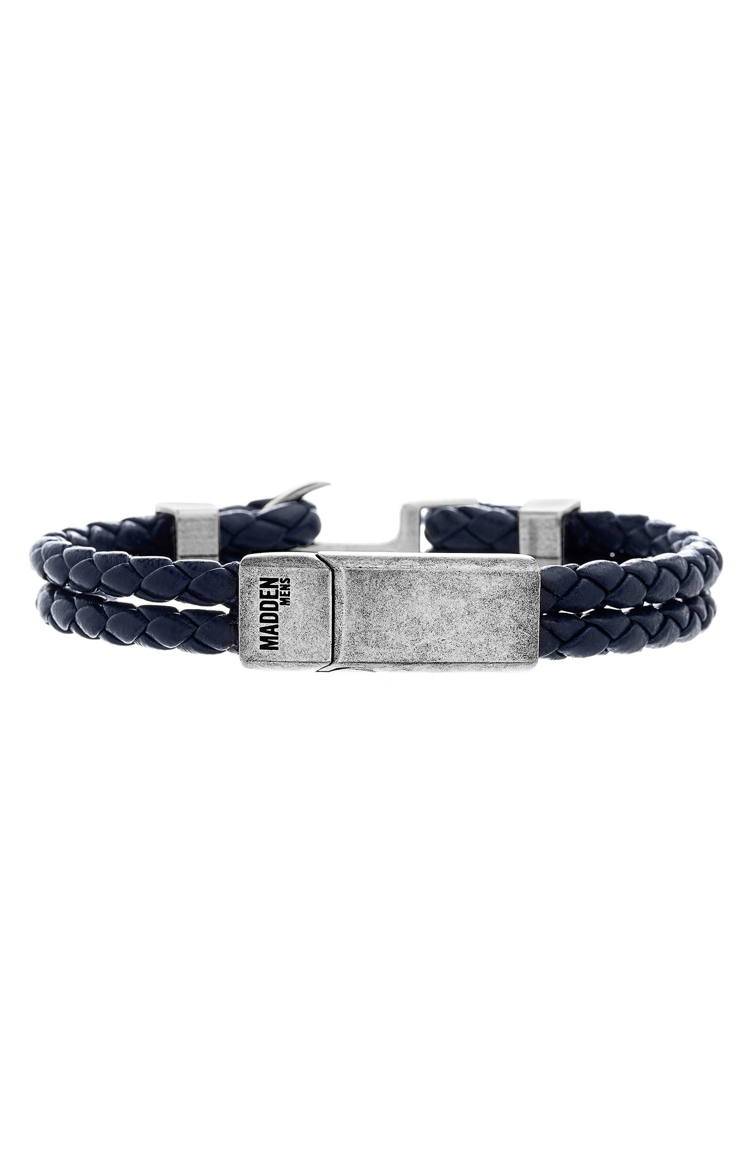 Steve Madden Braided Leather Bracelet