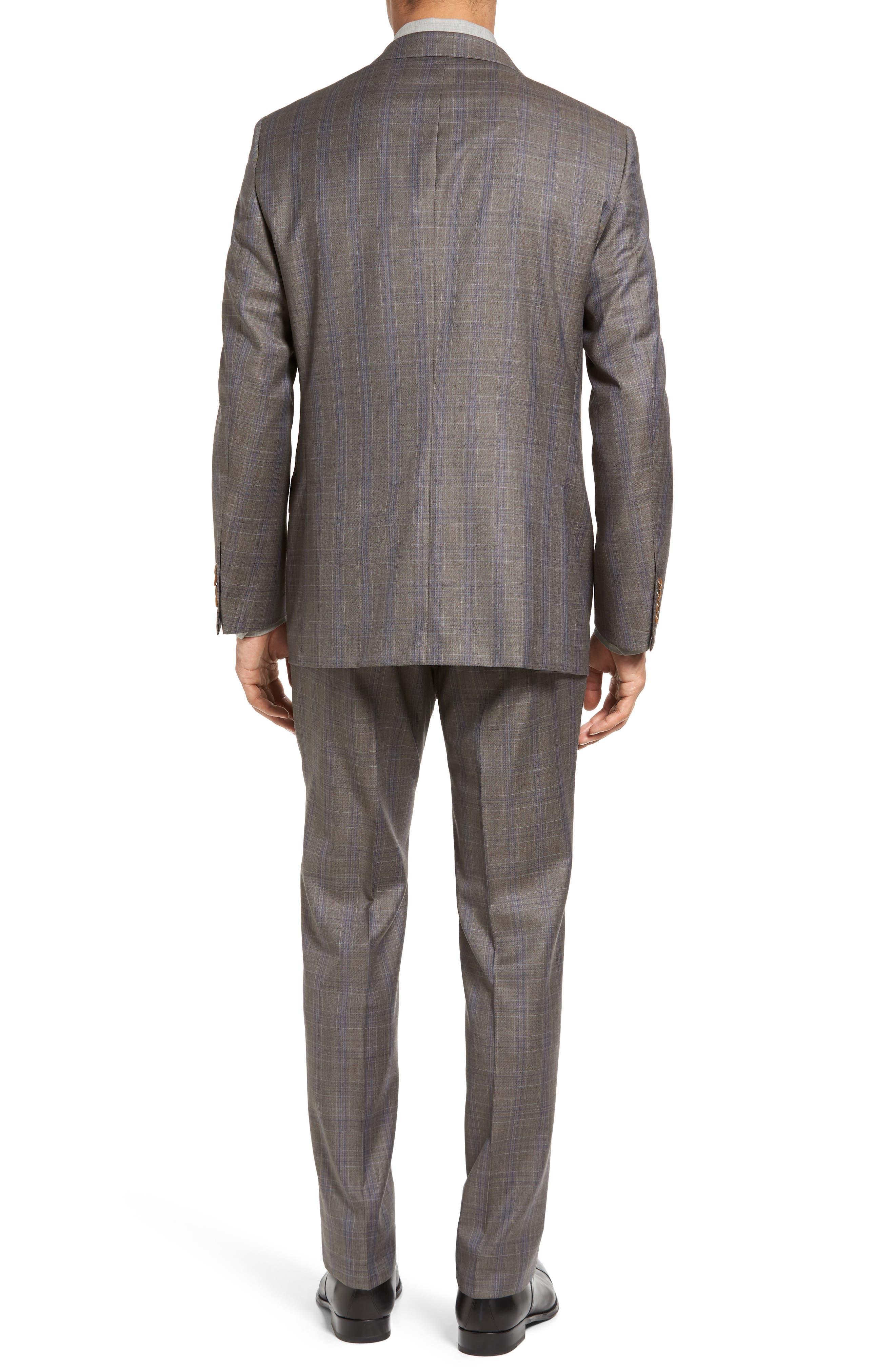 Alternate Image 2  - Hickey Freeman Beacon Classic Fit Plaid Wool Suit