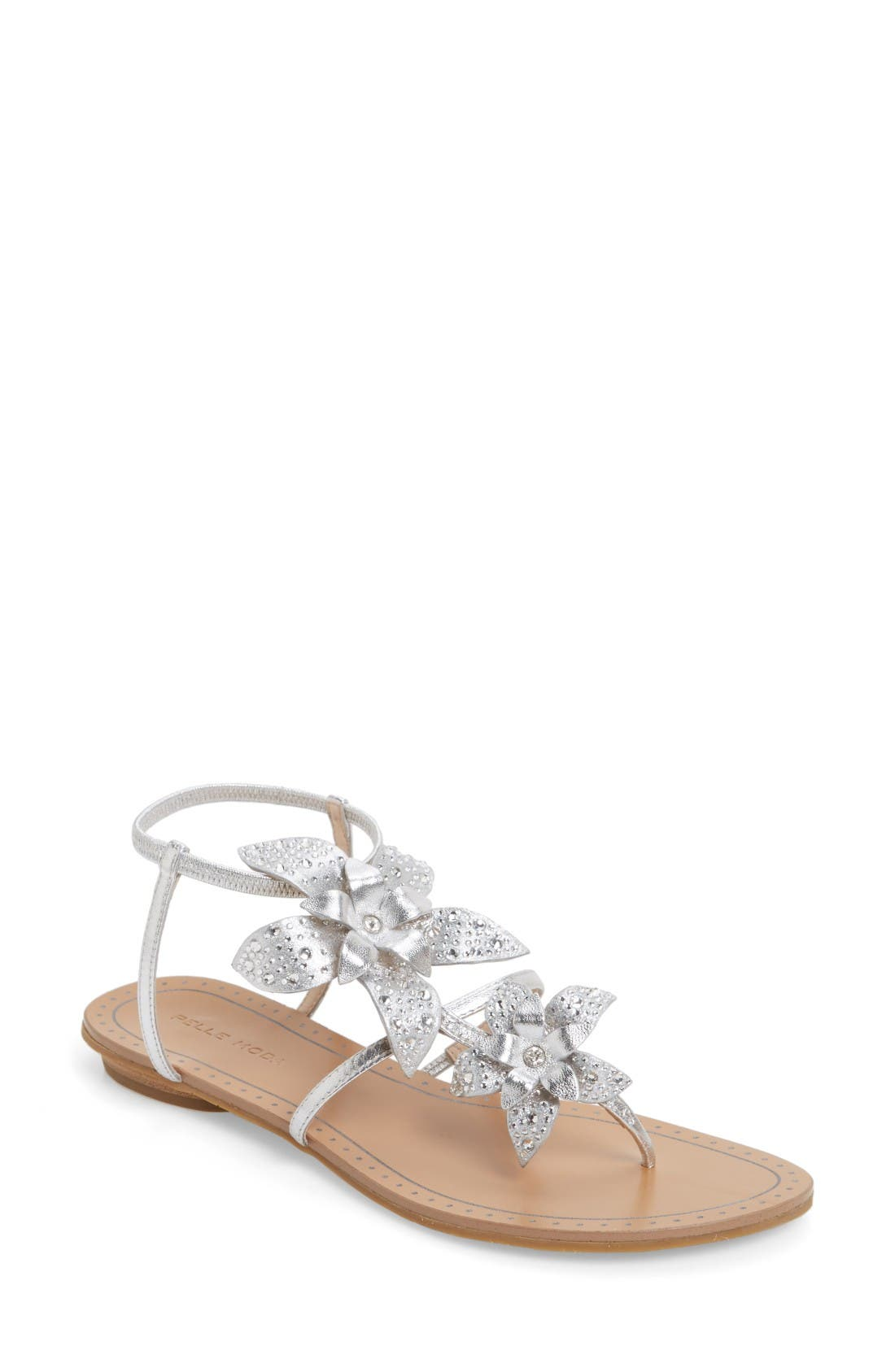 PELLE MODA Ellis Strappy Flowered Sandal