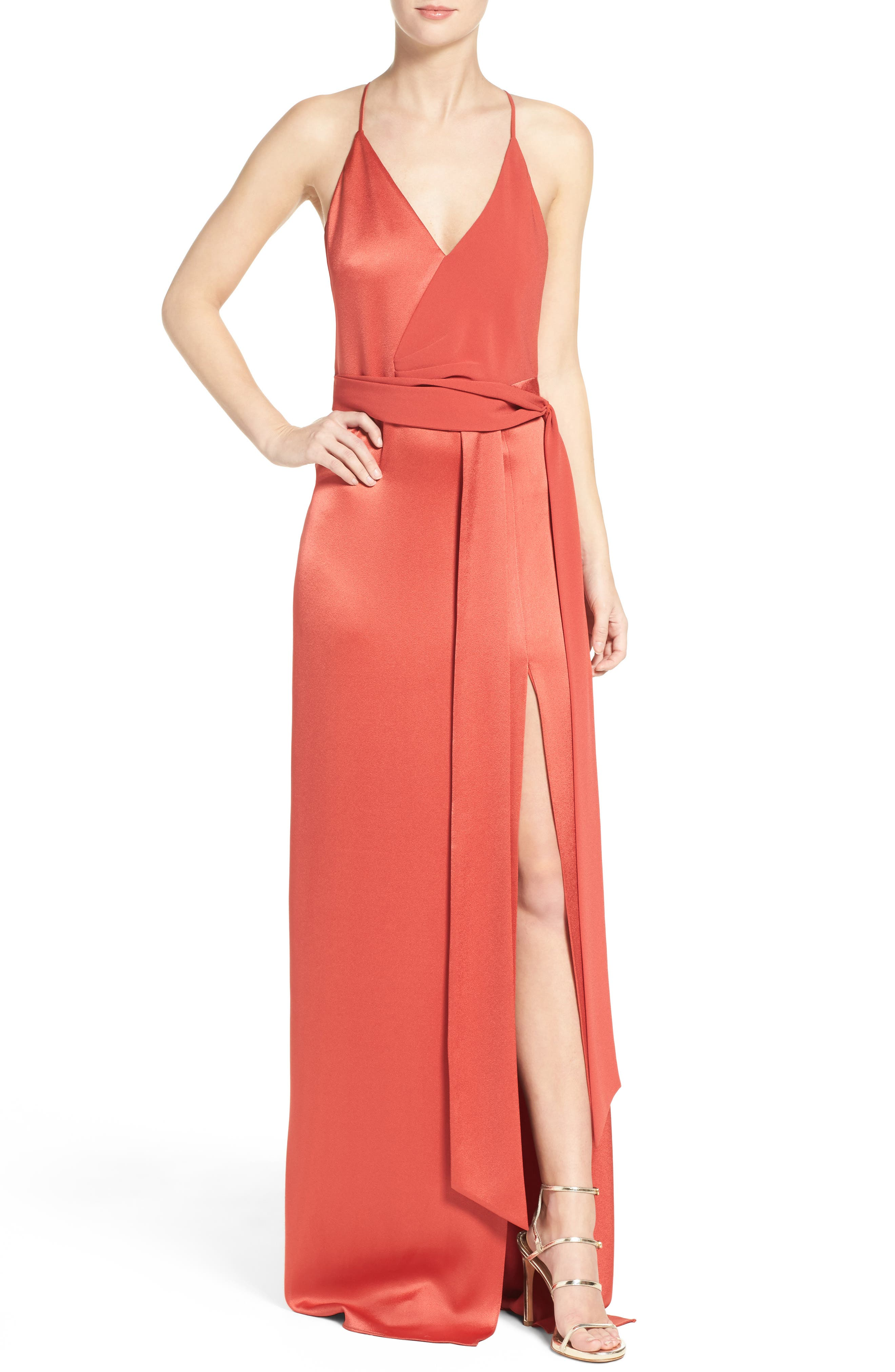 Alternate Image 1 Selected - Halston Heritage Satin Gown